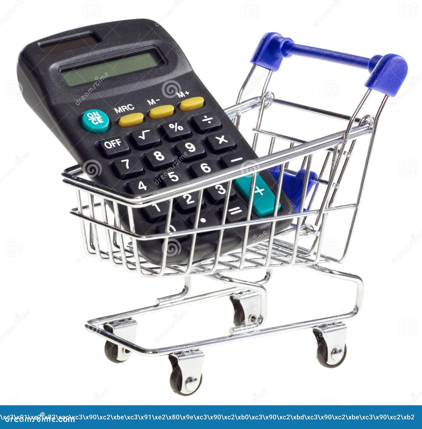Download Wózek Na Zakupy Z Kalkulatorem Obraz Stock - Obraz złożonej z retail, tło: 37078289