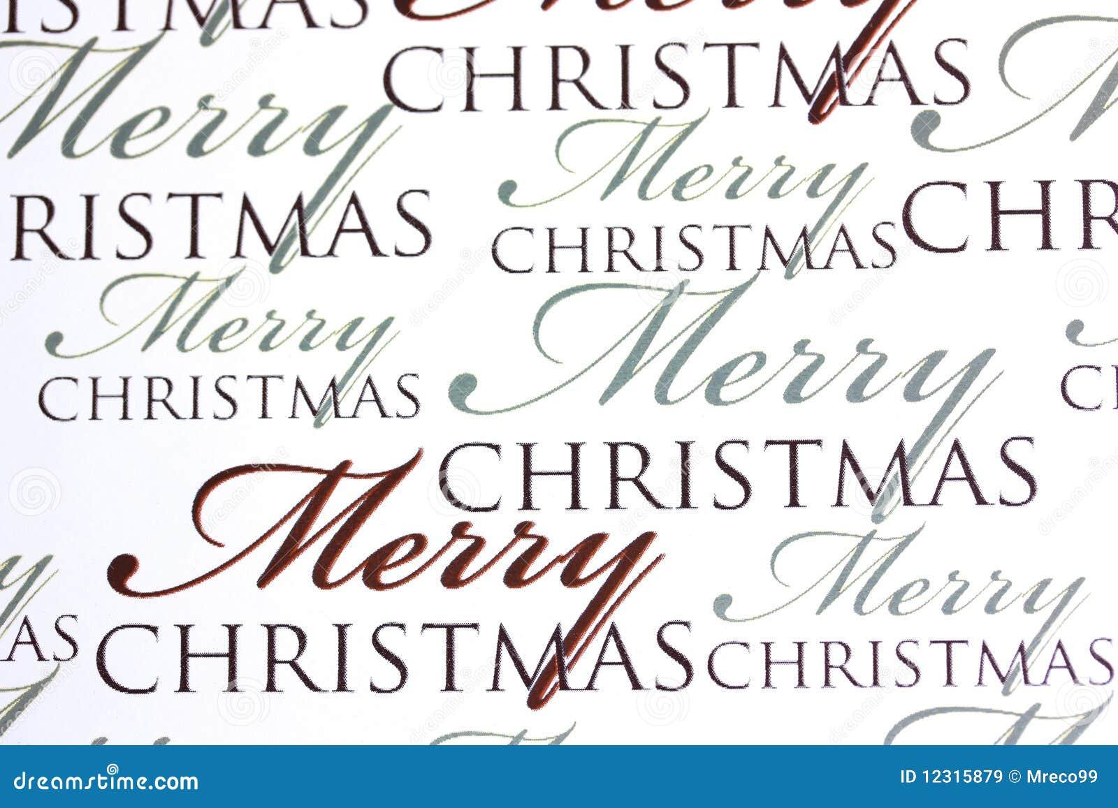 Weihnachten Wörter.Wörter Der Frohen Weihnachten Auf Papierhintergrund Stockbild Bild