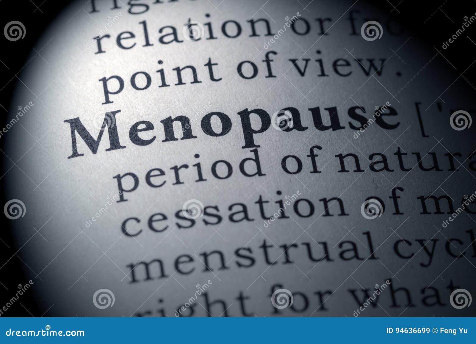 Wörterbuchdefinition der Menopause
