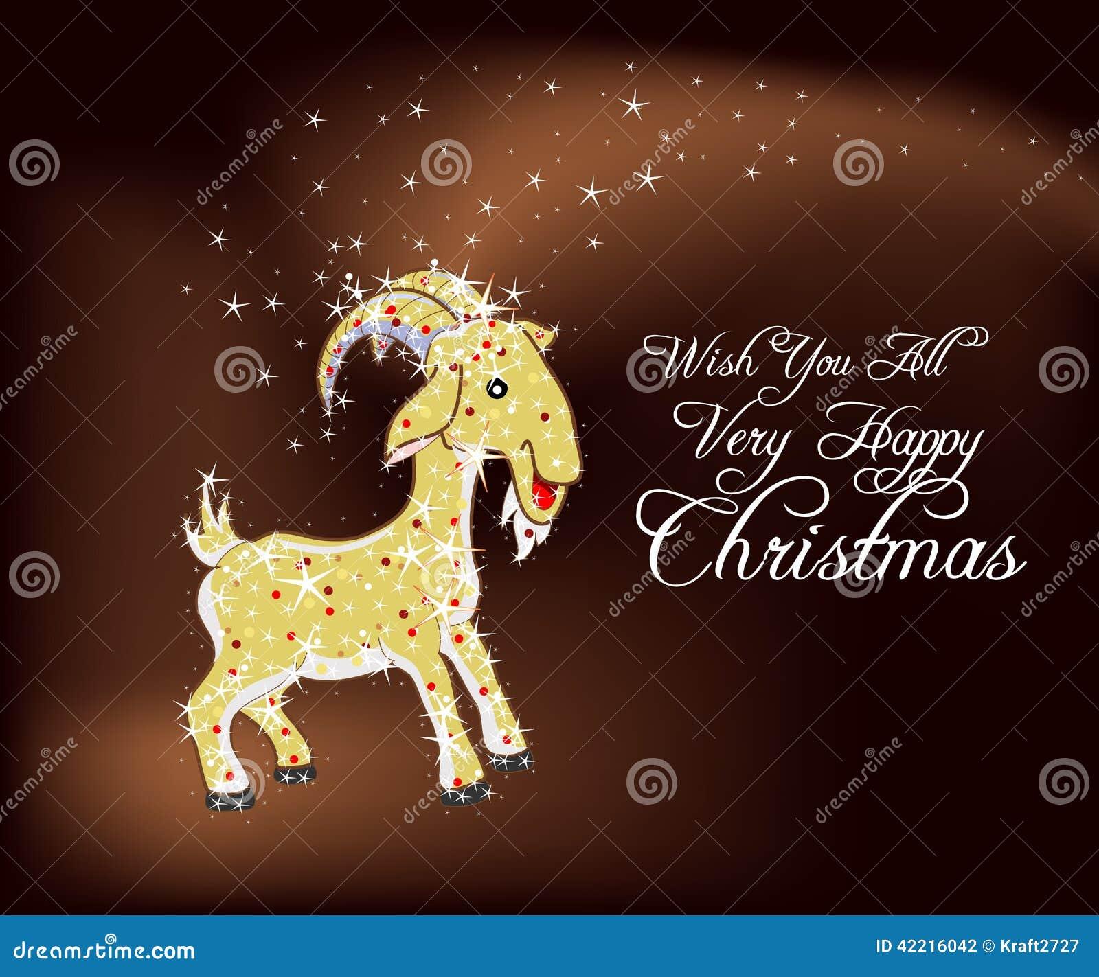 Wünschen Sie Ihnen Alles Sehr Glückliche Weihnachten Stock Abbildung ...