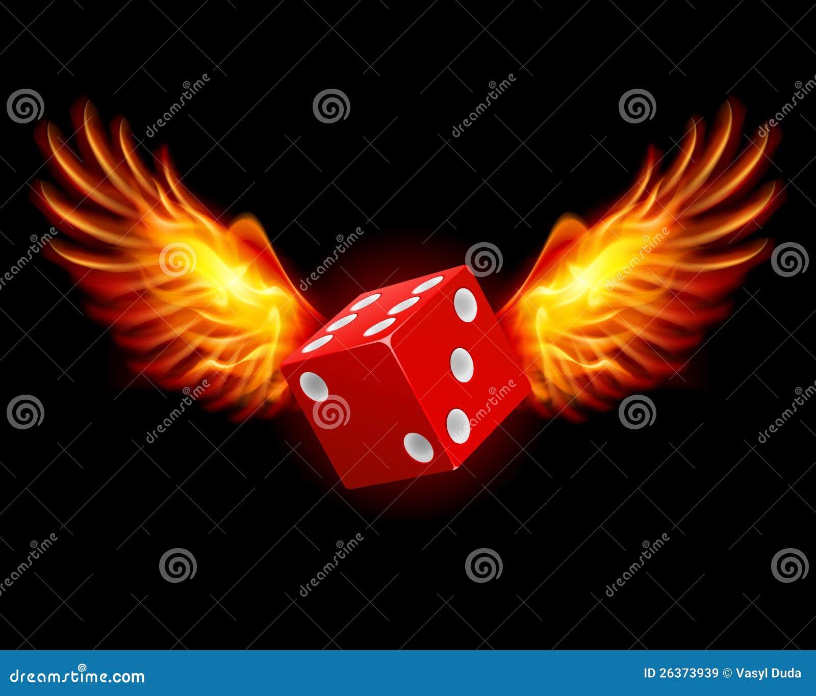 Würfeln-Brennende Flügel