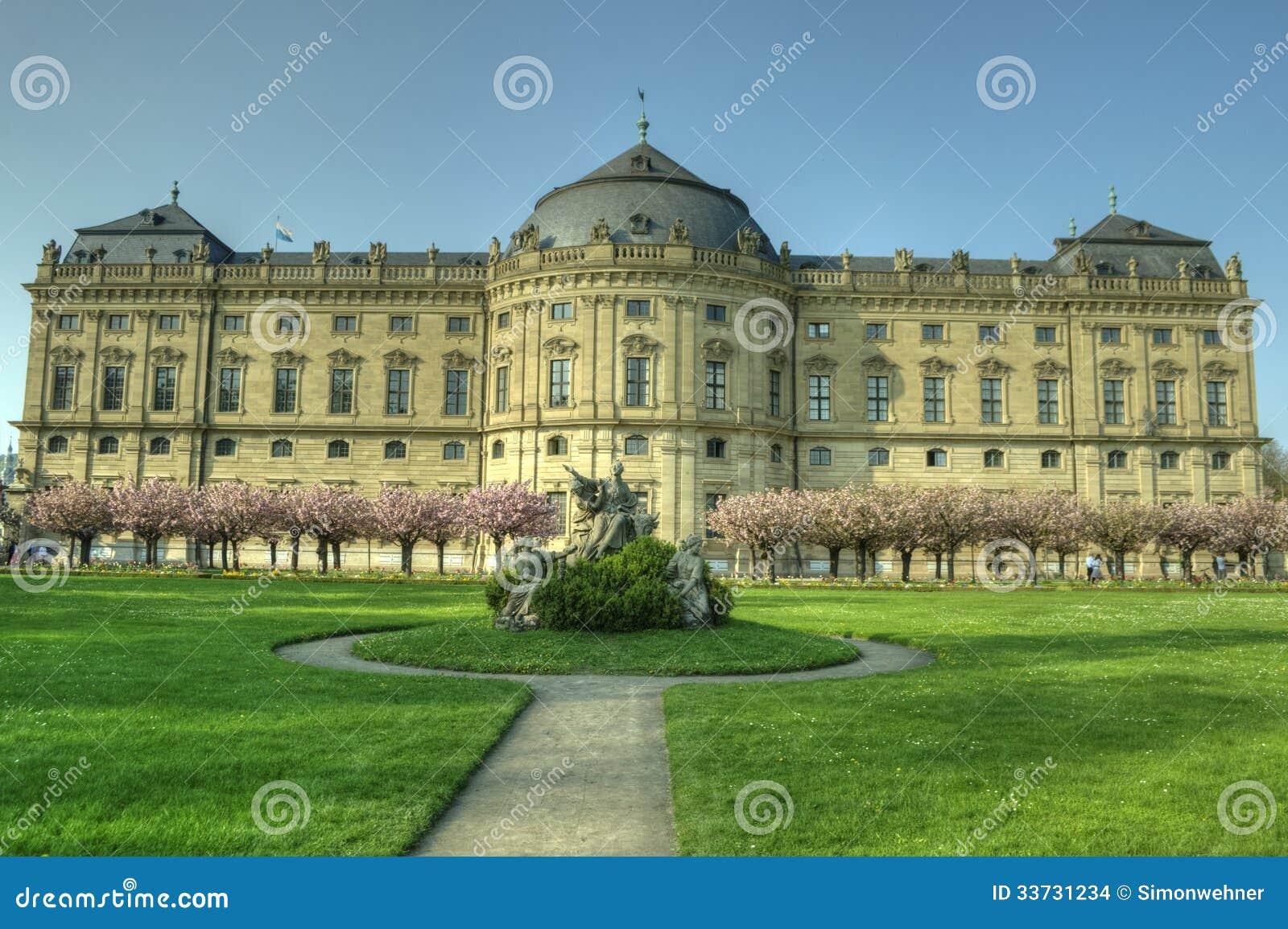 Würzburg, Германия - резиденция Würzburg