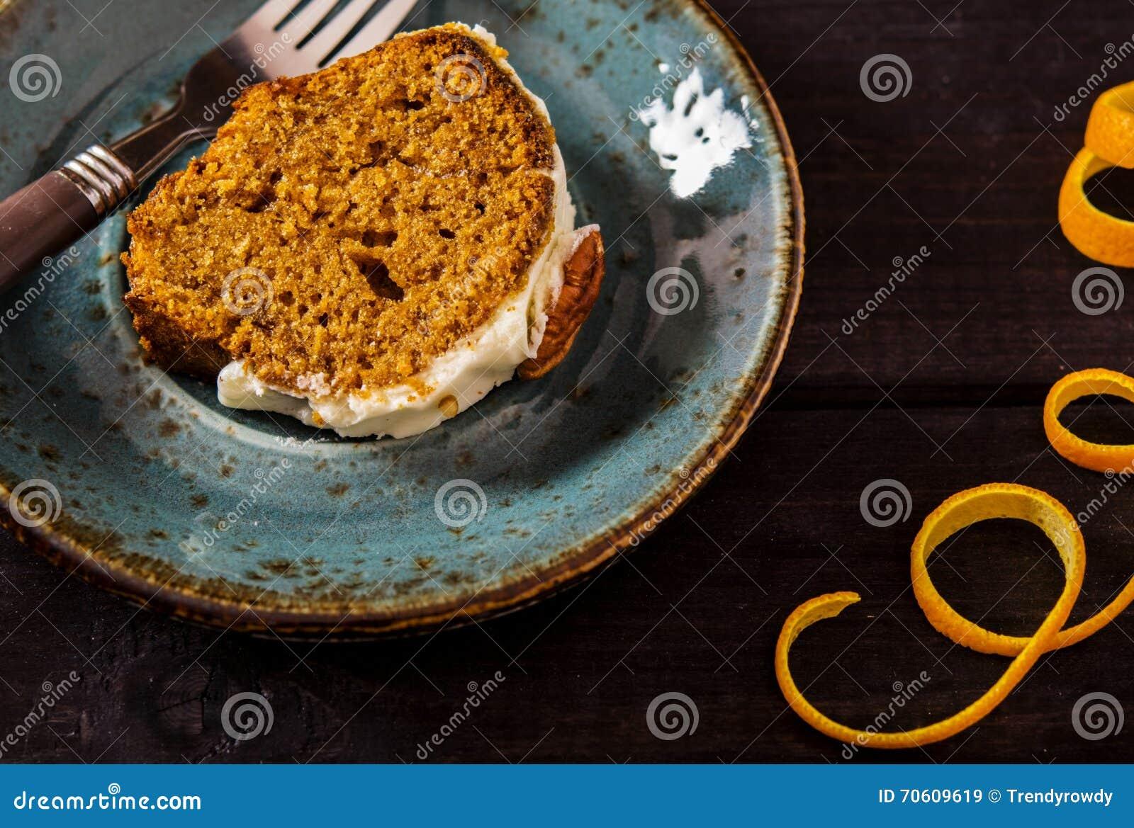Wurziger Karotte Orange Kuchen Stockbild Bild Von Mutter Kuchen