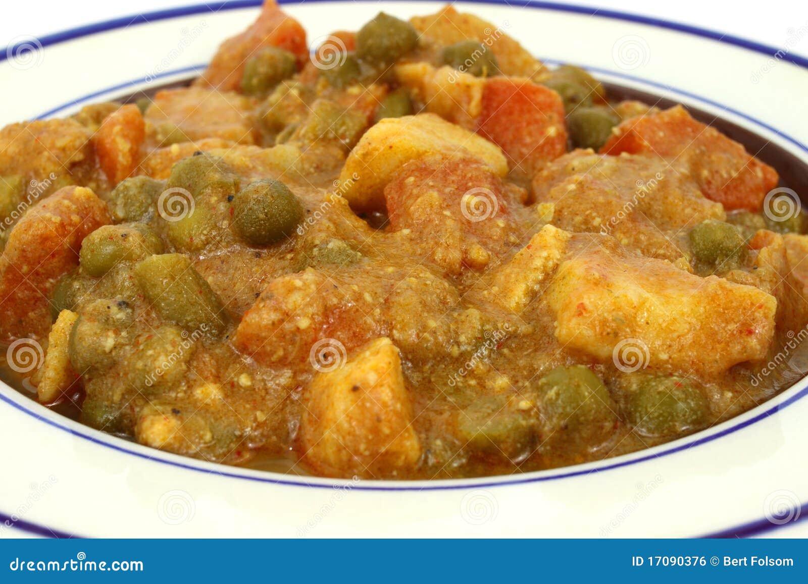 Würziges Mischgemüse in der Currysoße