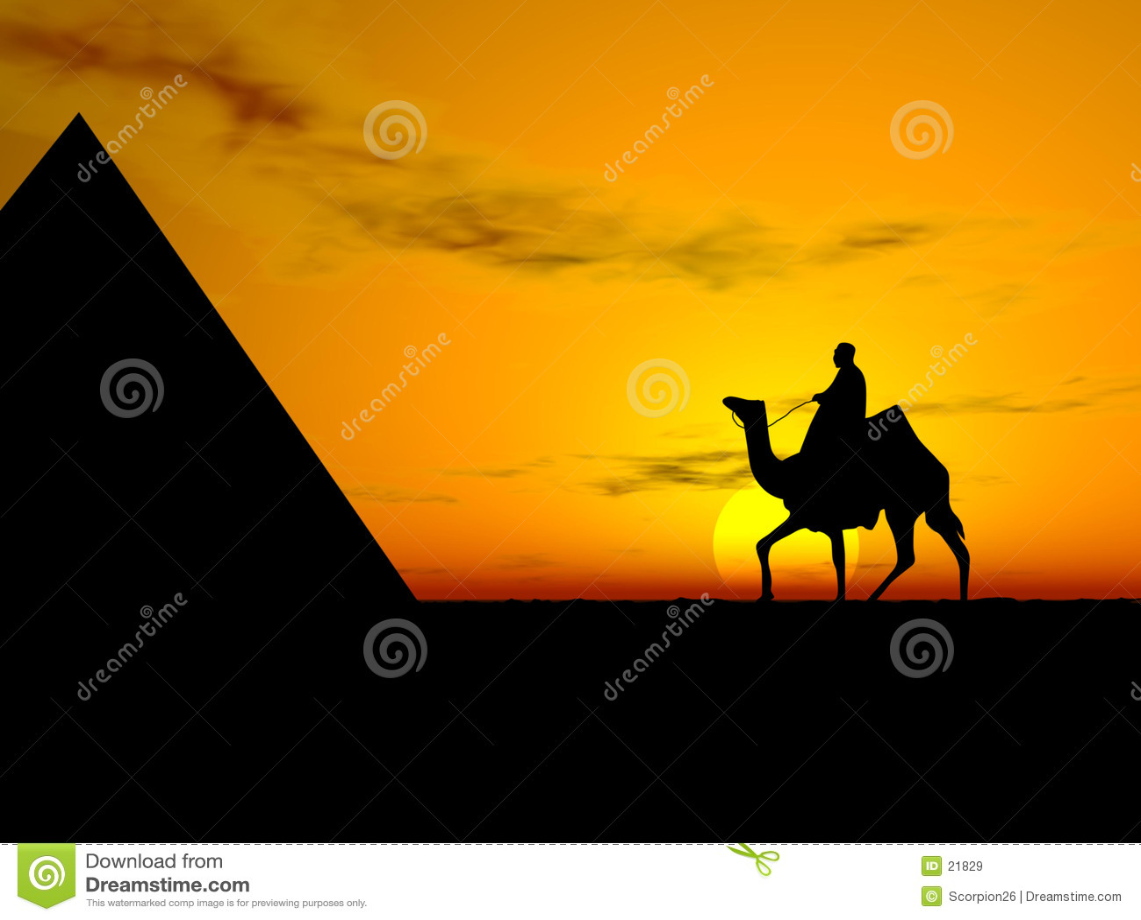 Wüsten-Sonnenuntergang