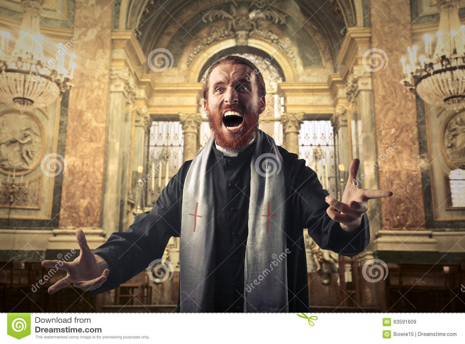 Wütender Priester