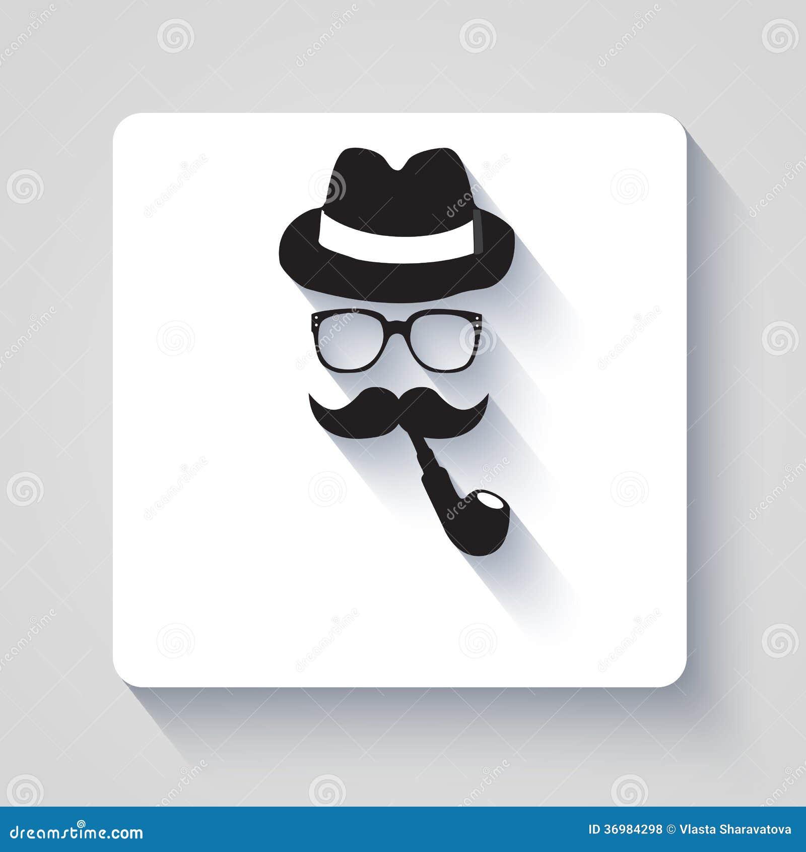 Wąs z kapeluszem, dymienie drymbą i szkło ikoną,