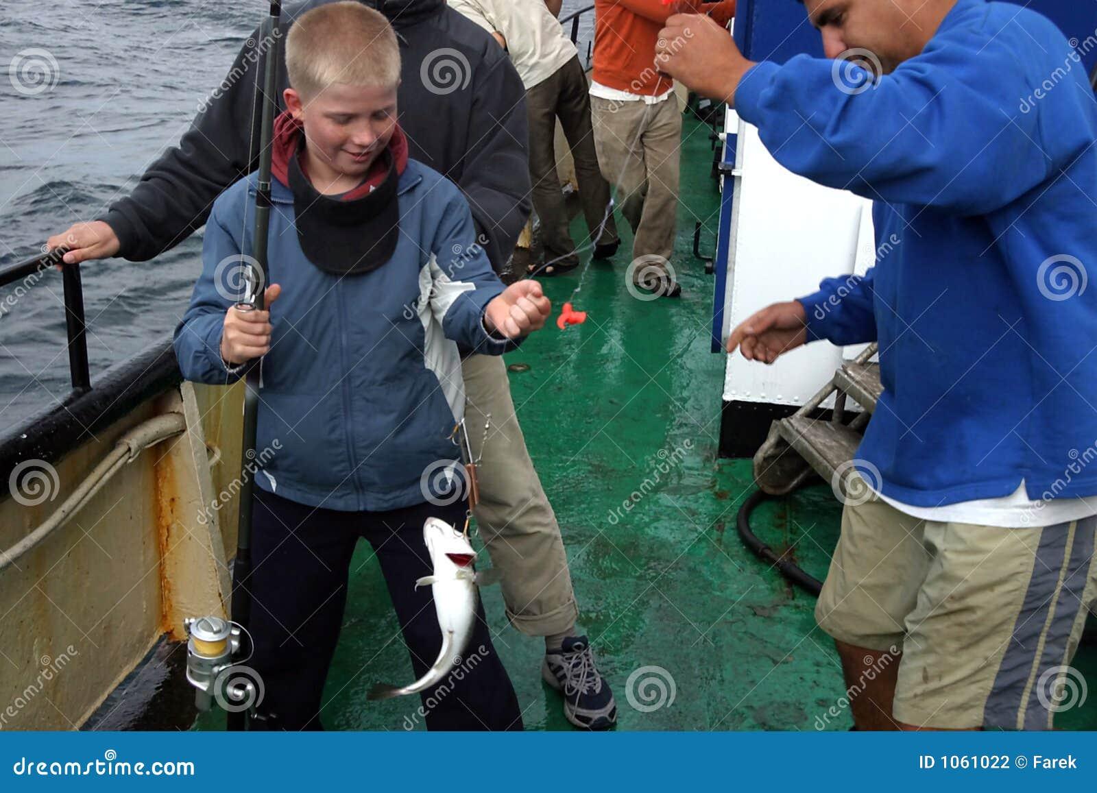 Wędkarza young połowów