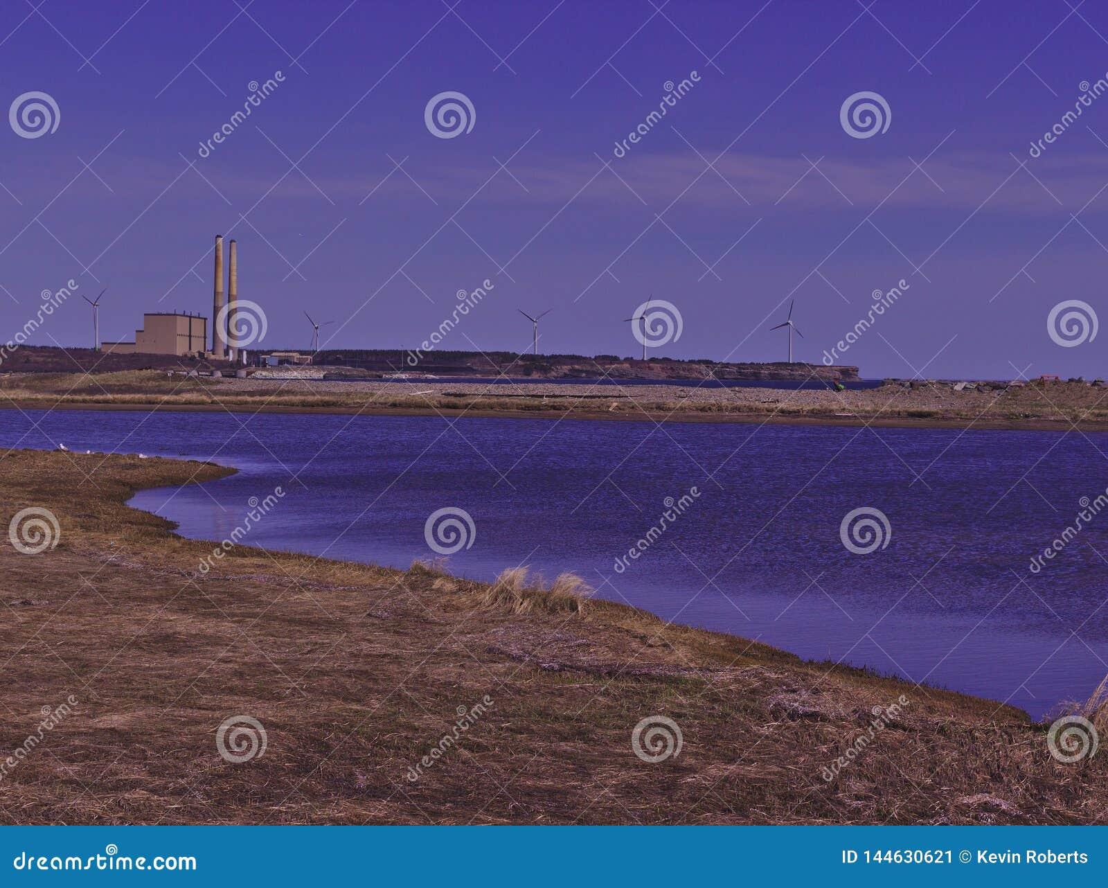 Węglowa elektrownia 3475 & silniki wiatrowi