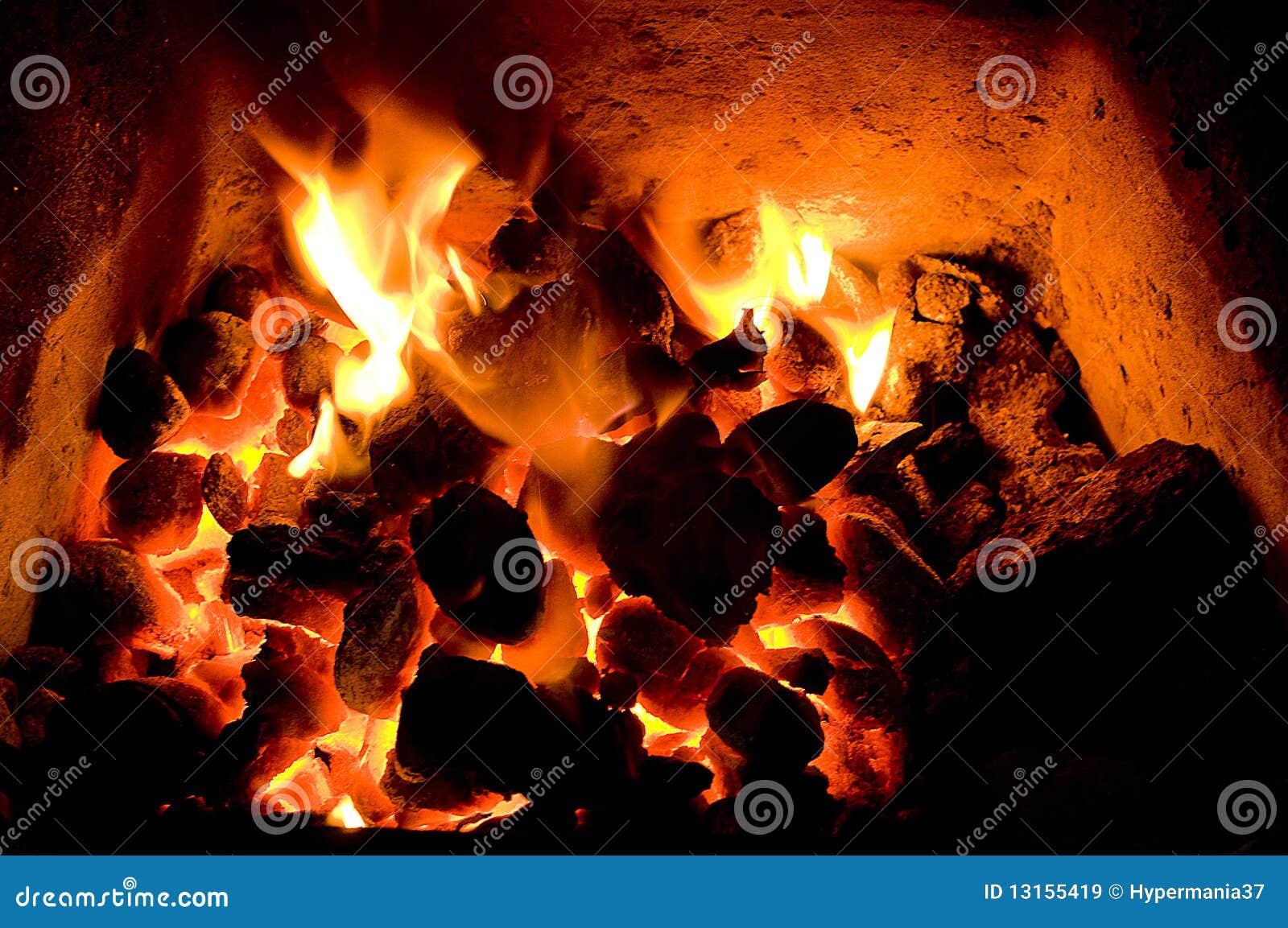 Węglowy ogień