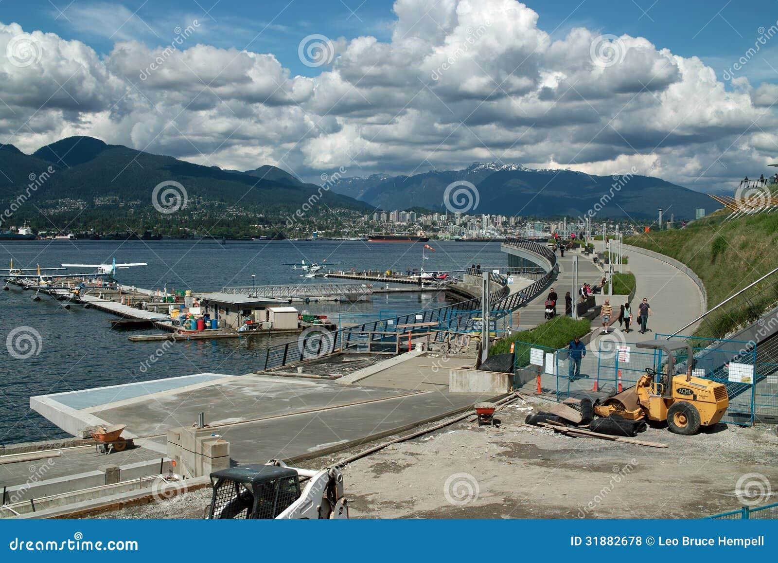 Węglowy schronienie hydroplanu lotnisko, Vancouver BC Kanada