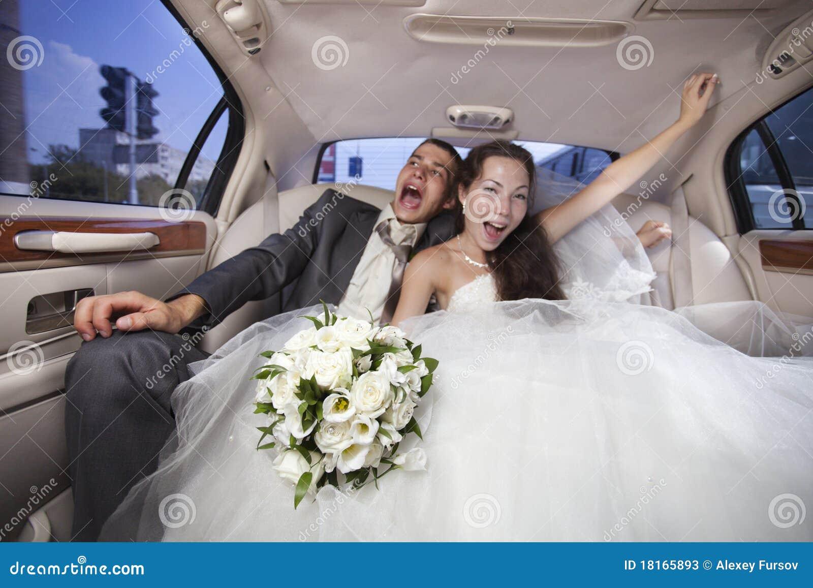 Właśnie zamężna potomstw para