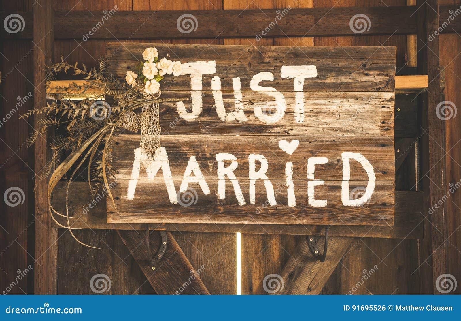 Właśnie zamężny znak