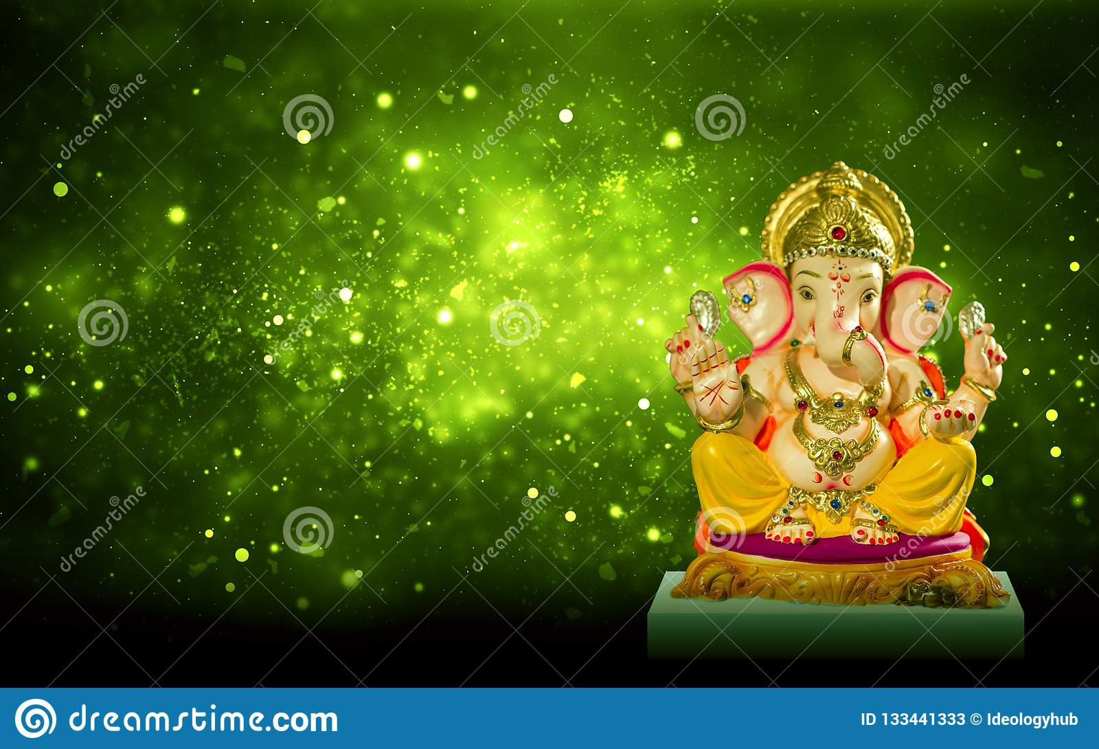 Władyki Ganesha idola ganesh festiwalu chaturthi