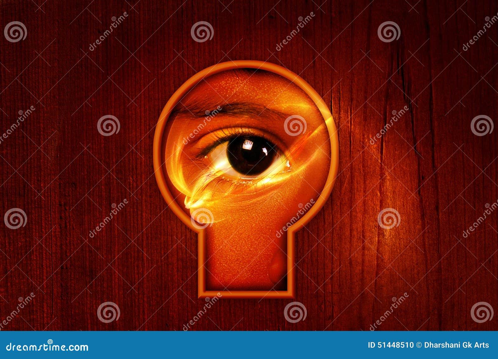Władzy oka keyhole