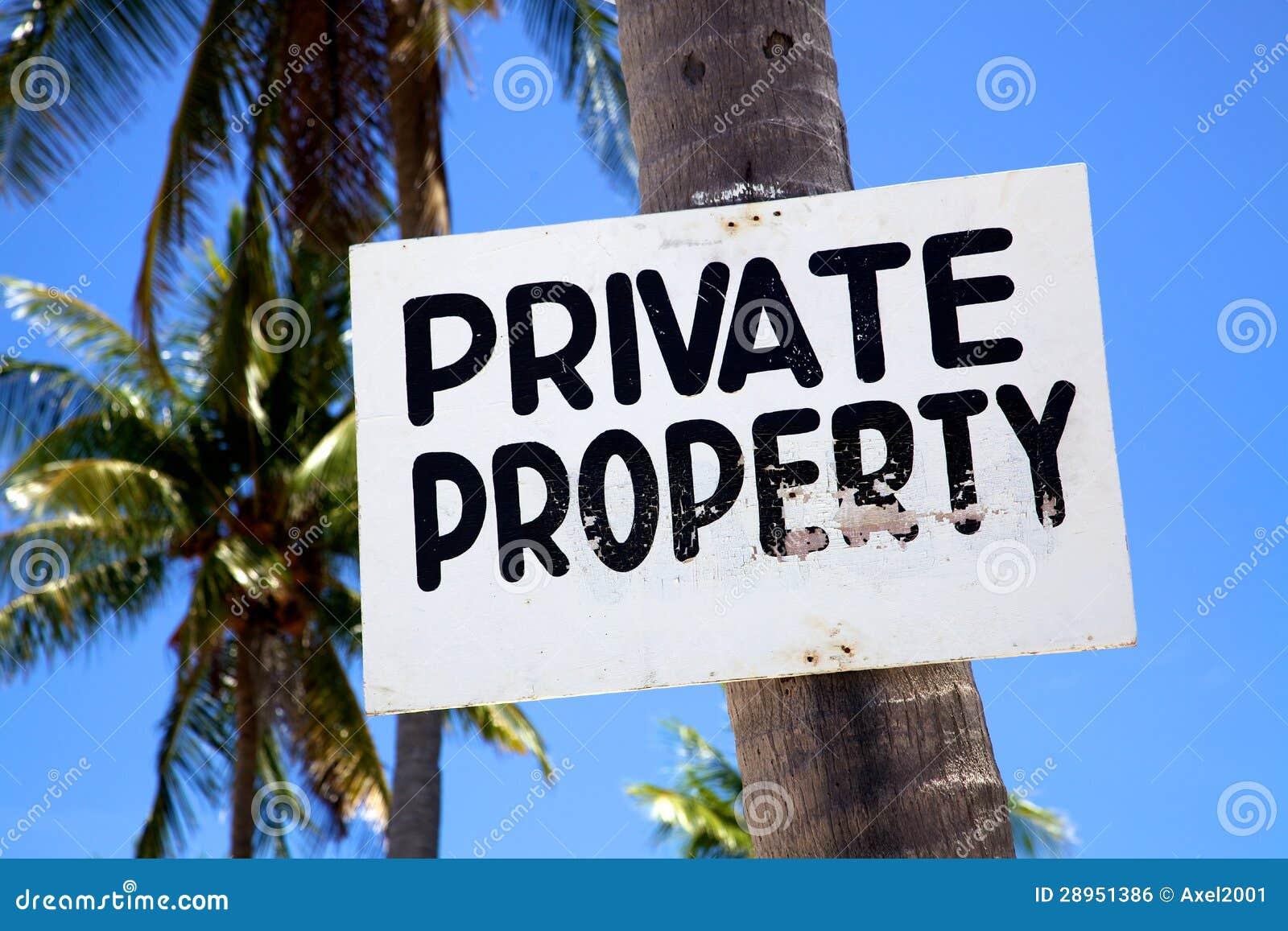 Własność Prywatna znak na plaży na Malapascua wyspie, Philippins