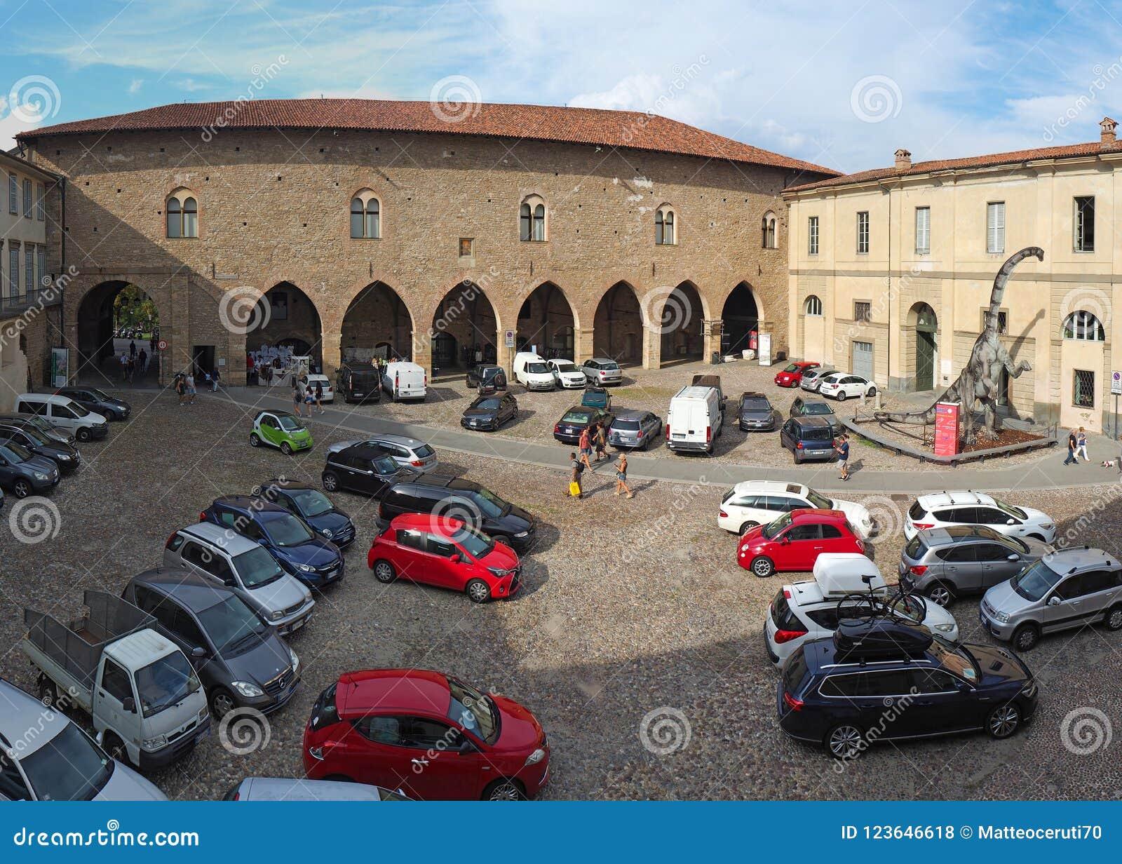 Włoch bergamo starego miasta Cittadella kwadrat