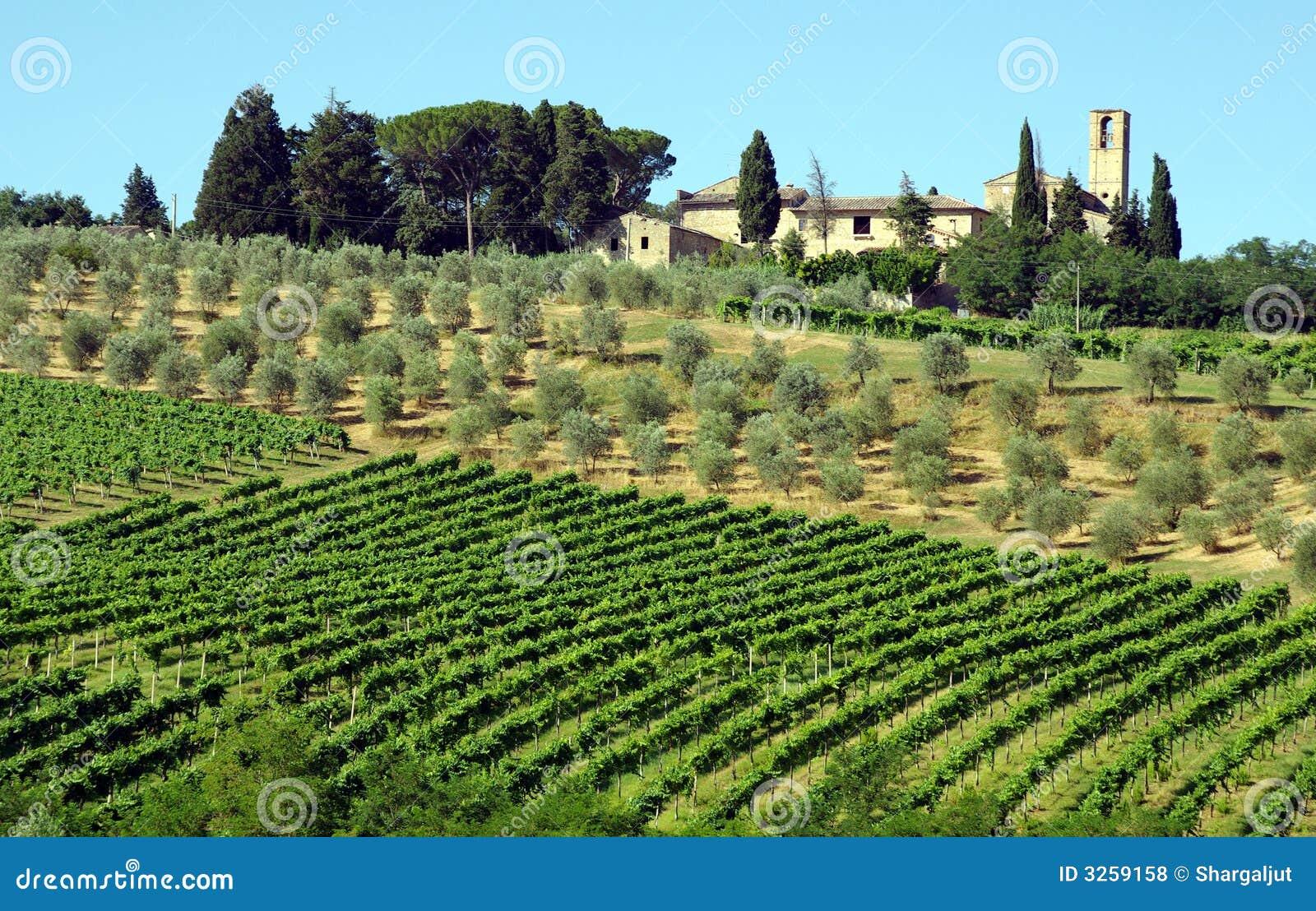 Włoch rolnych Toskanii