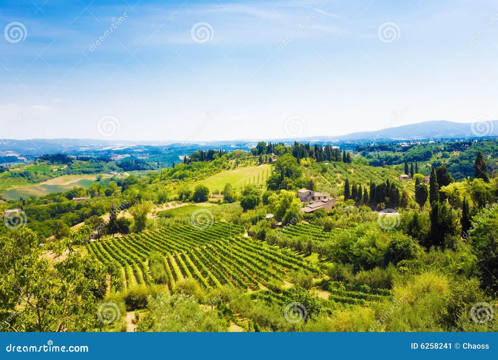 Włochy Toscana tradycyjnego krajobrazu