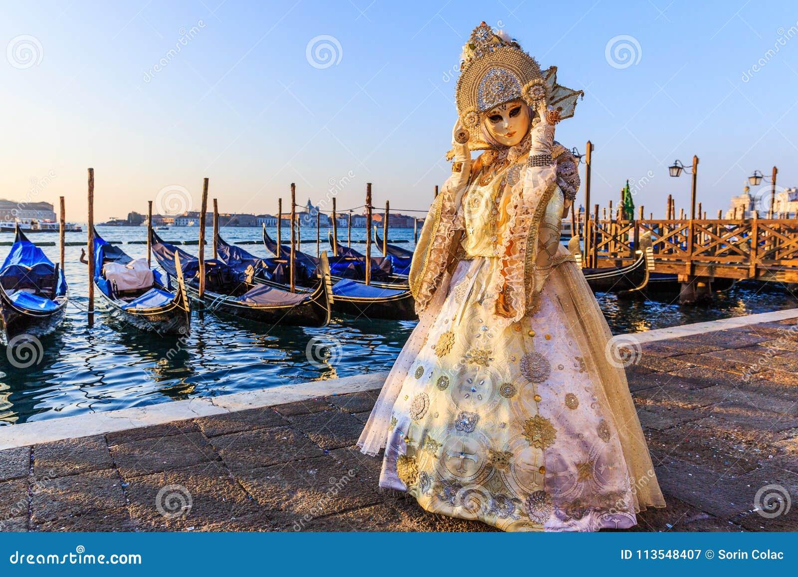 Włochy Wenecji karnawałowy Wenecji