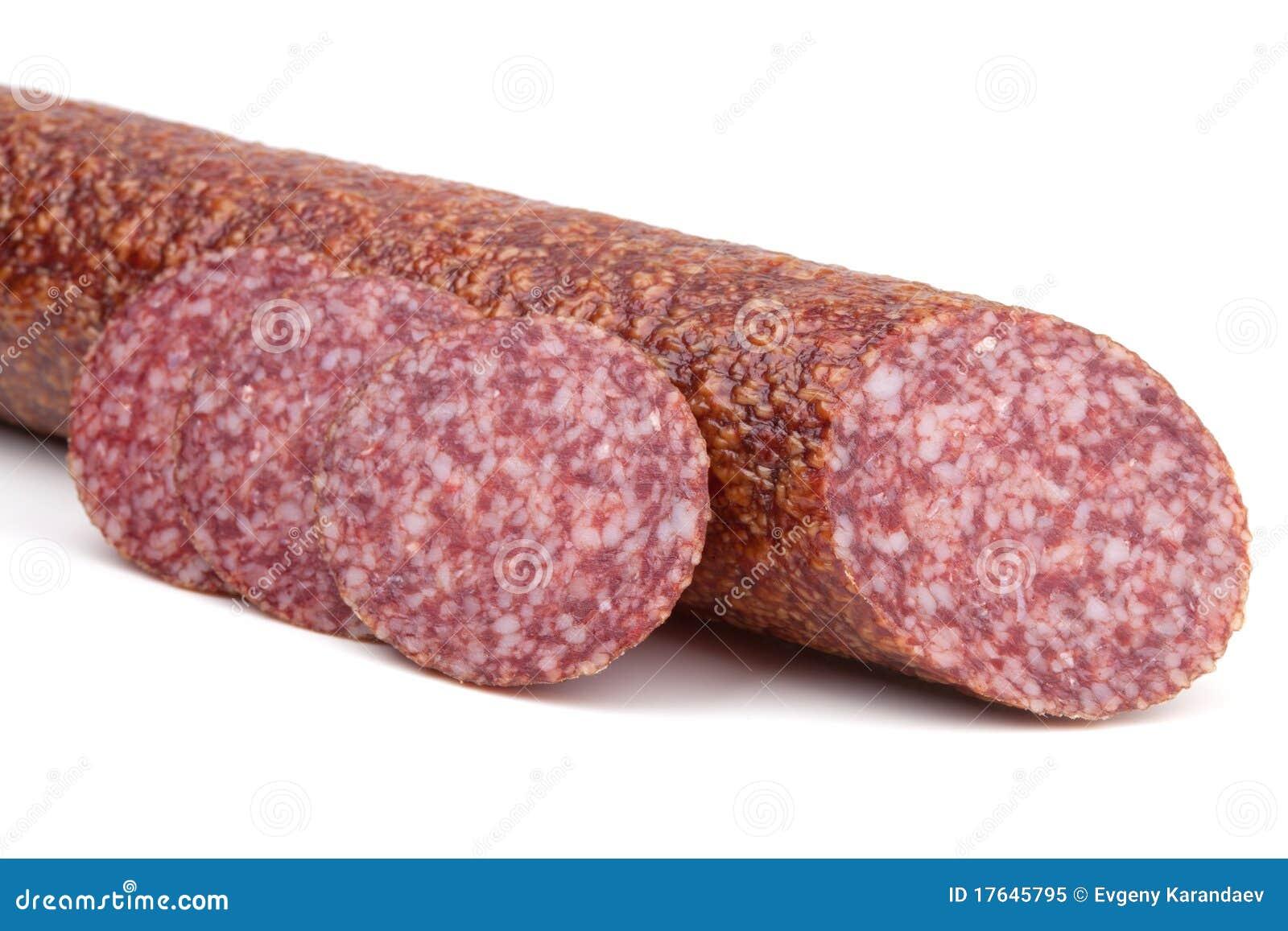 Włoscy salami kiełbasy plasterki