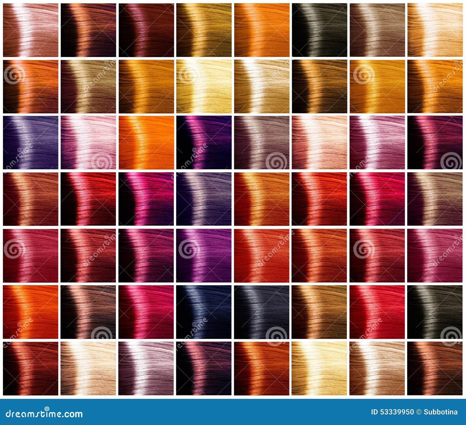 Włosiana kolor paleta odcienie