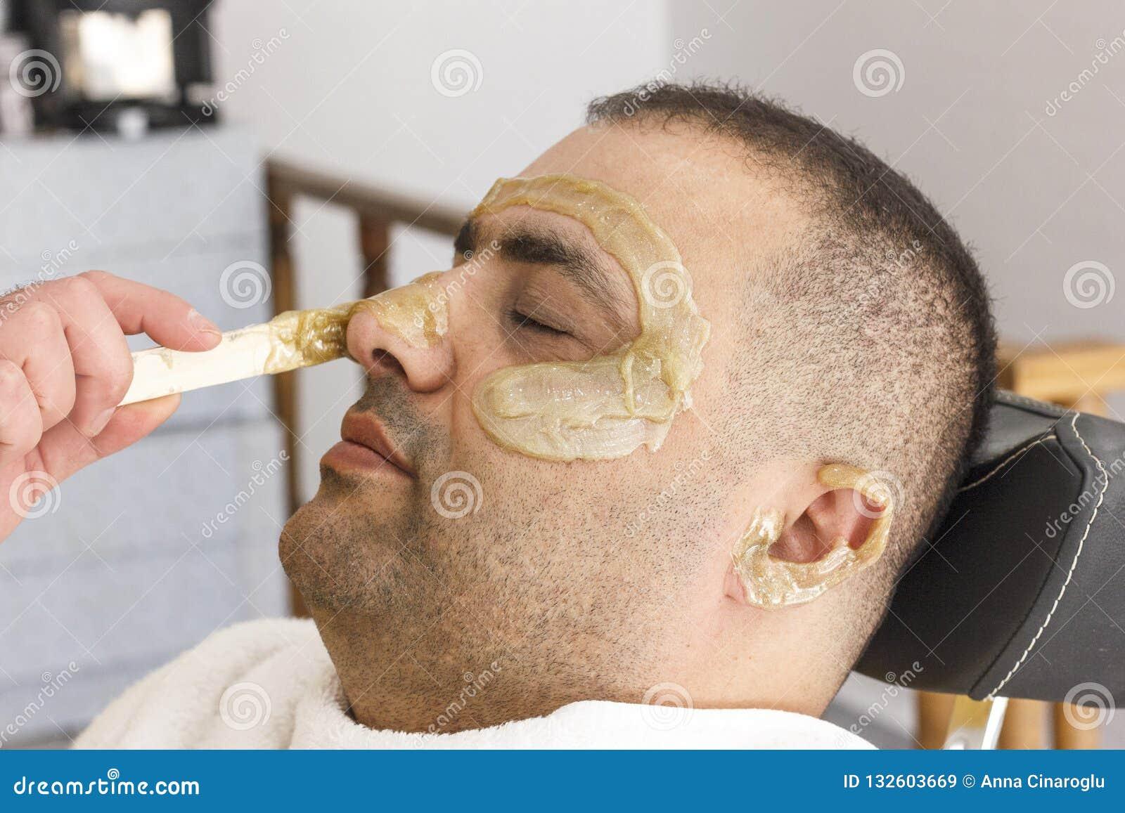 Włosiany usunięcie Mężczyzna twarzy słodzenia epilacja w Turcja