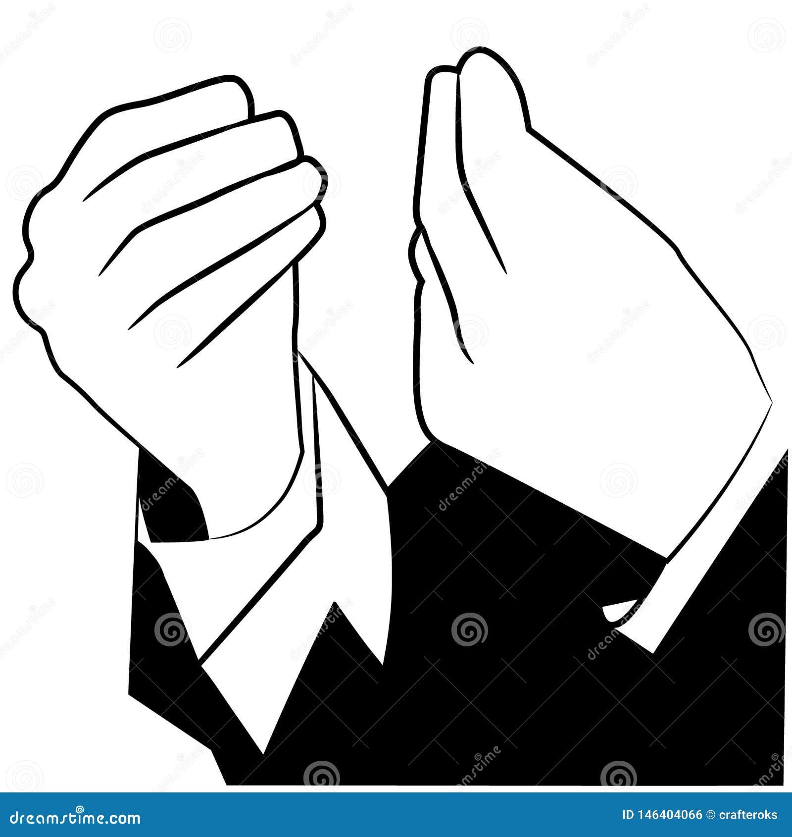 Włoska ręka gesta wektorowa ilustracja crafteroks