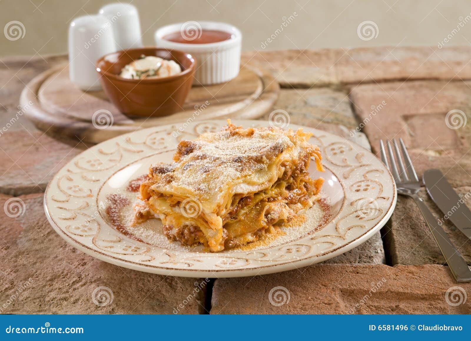 Włoski lasagna