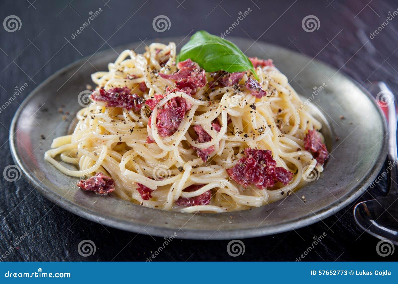 Włoski makaronu carbonara