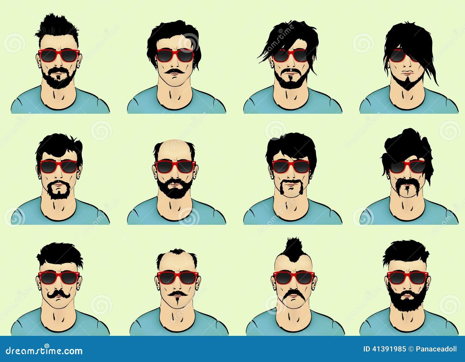 Włosy, broda i wąsy,
