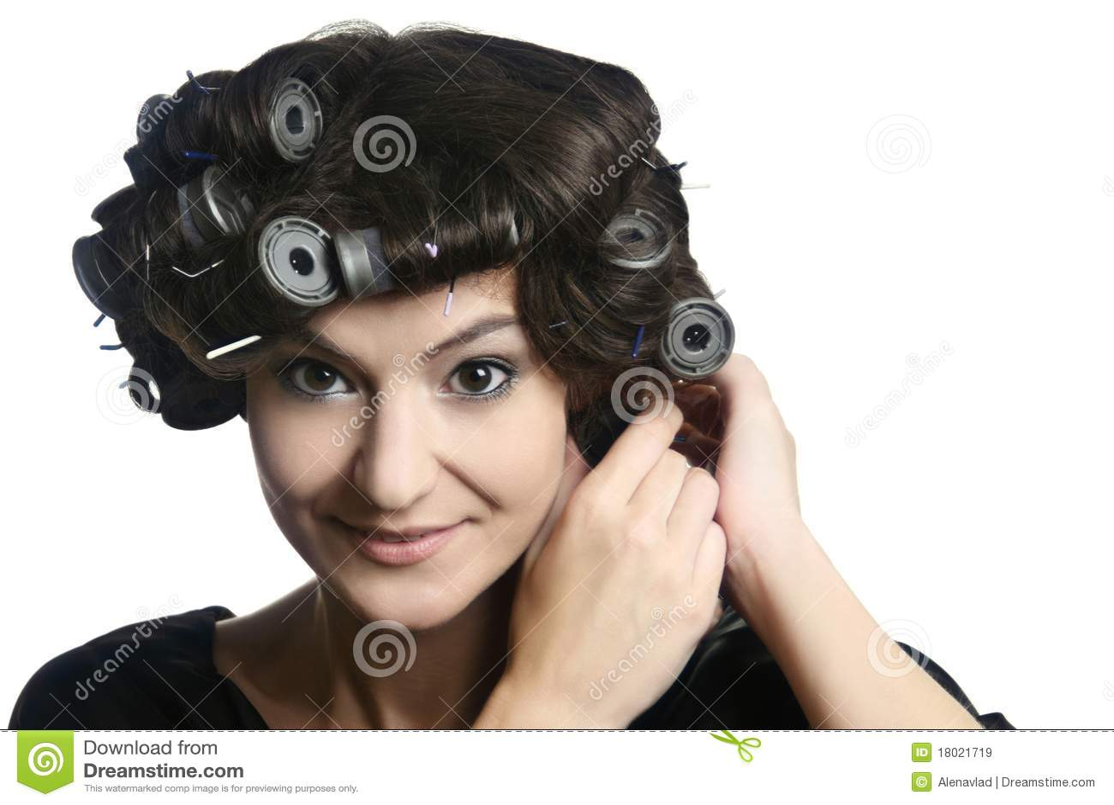 Włosy kierownicza rolowników kobieta