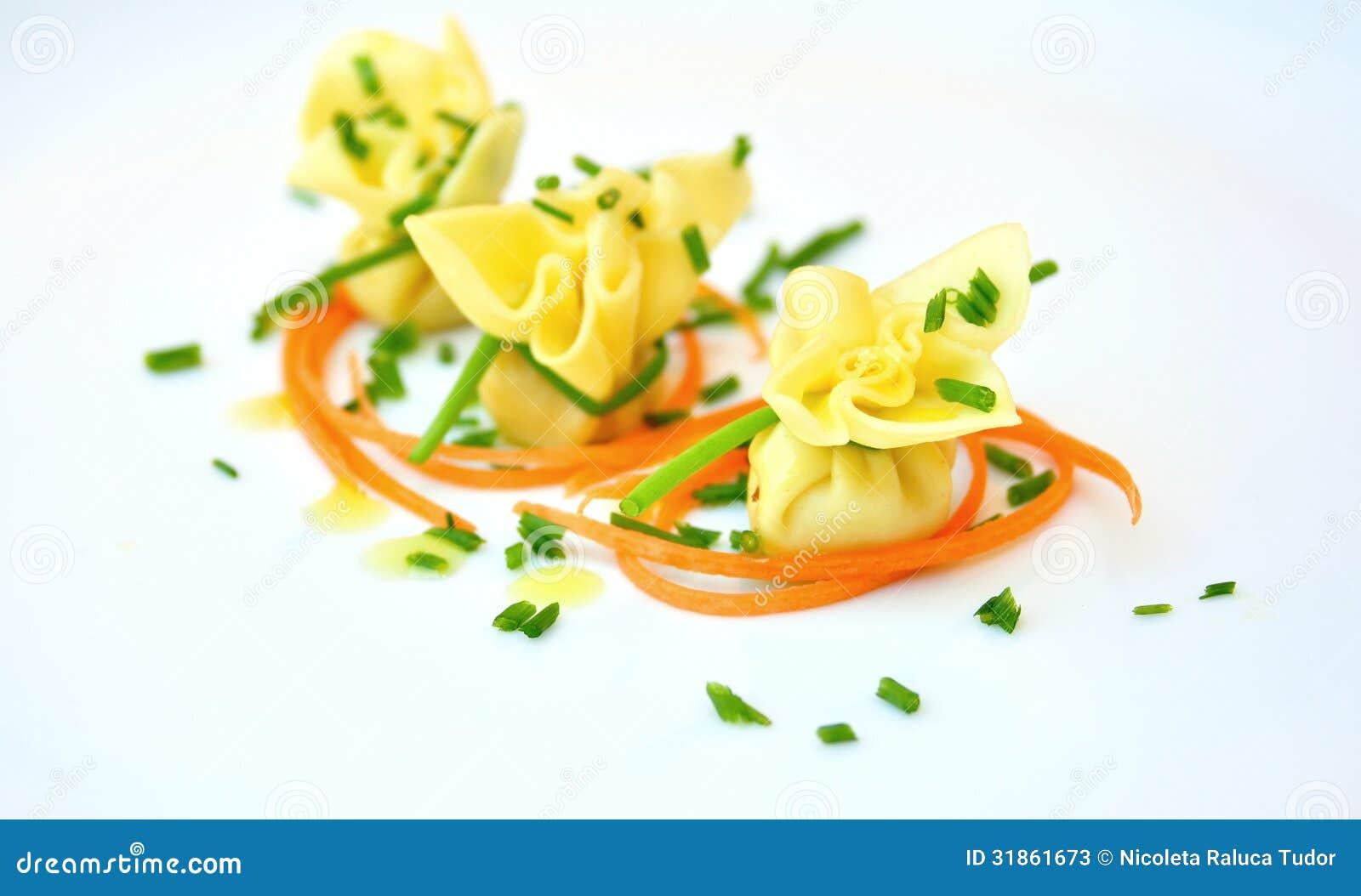 Włoszczyzny typowy jedzenie: makaron