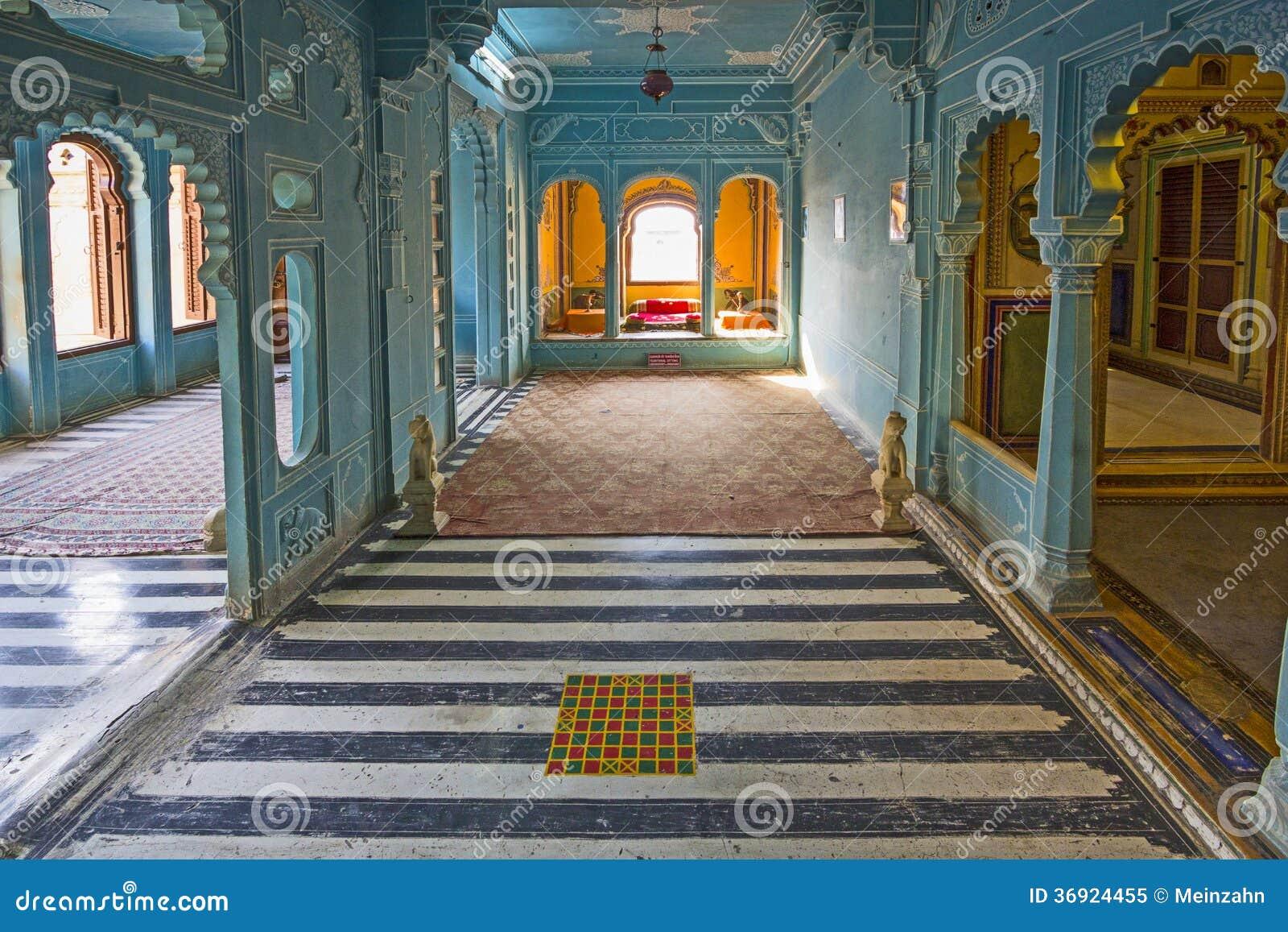 Wśrodku miasto pałac w Udaipur