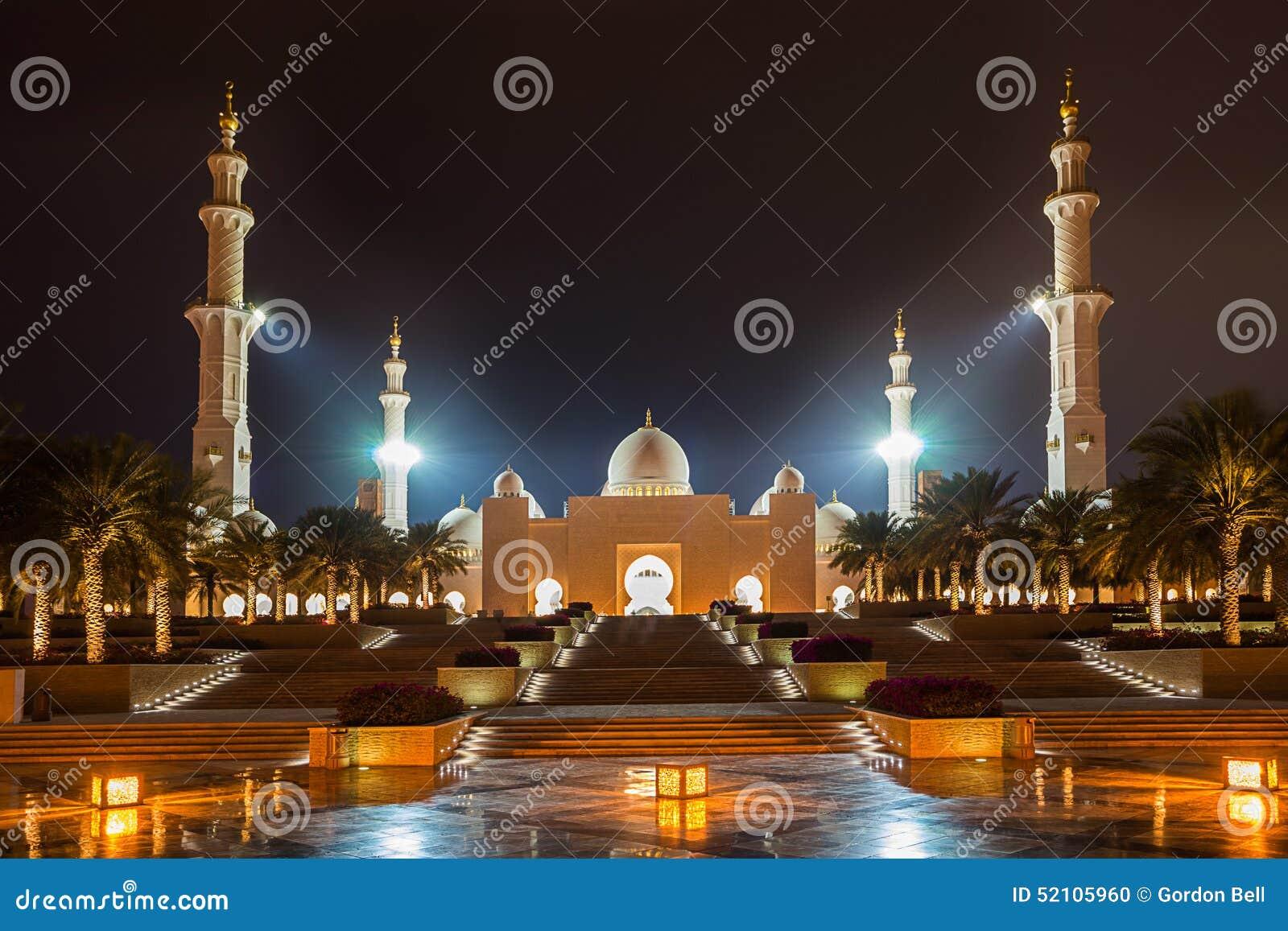 W Abu Uroczysty Sheikh Meczet Zayed Dhabi