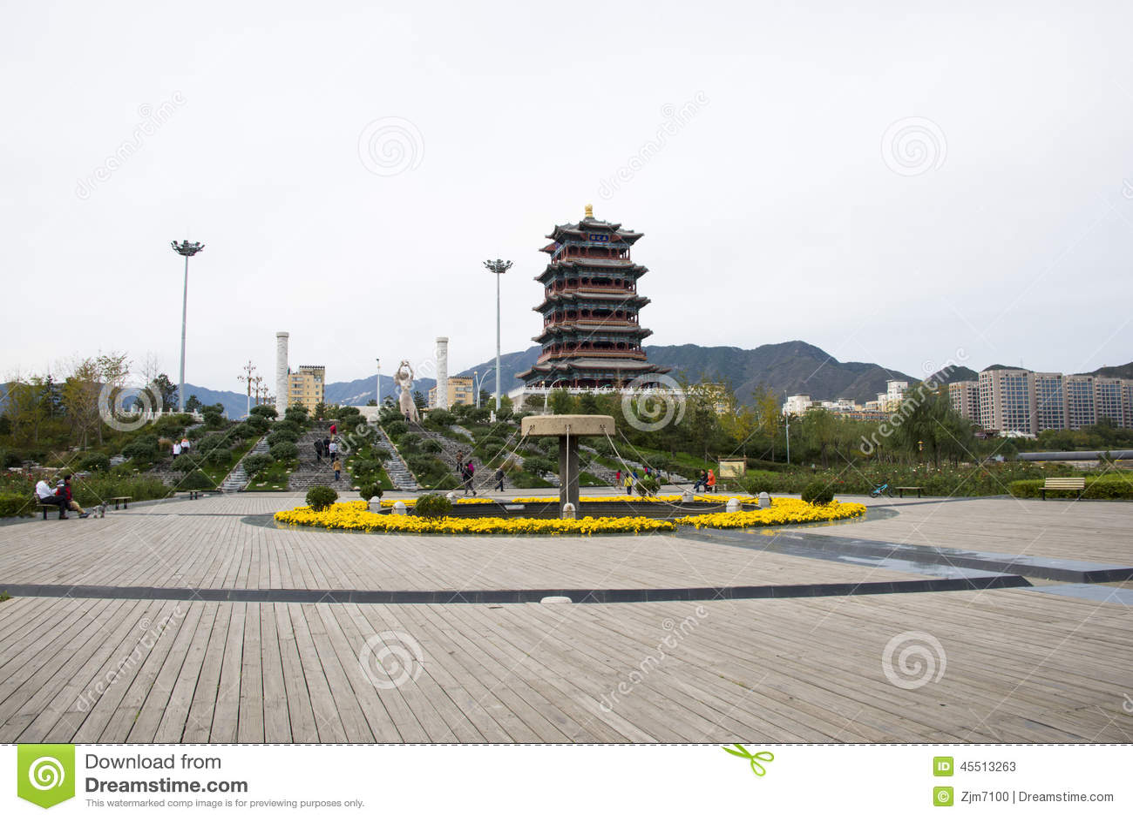 W Azja, Chiny, Pekin, Mentougou antykwarski budynek, Yong ding Lou