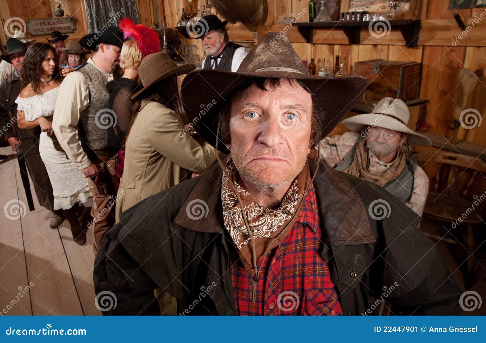 W Barze niewygładzony Kowboj