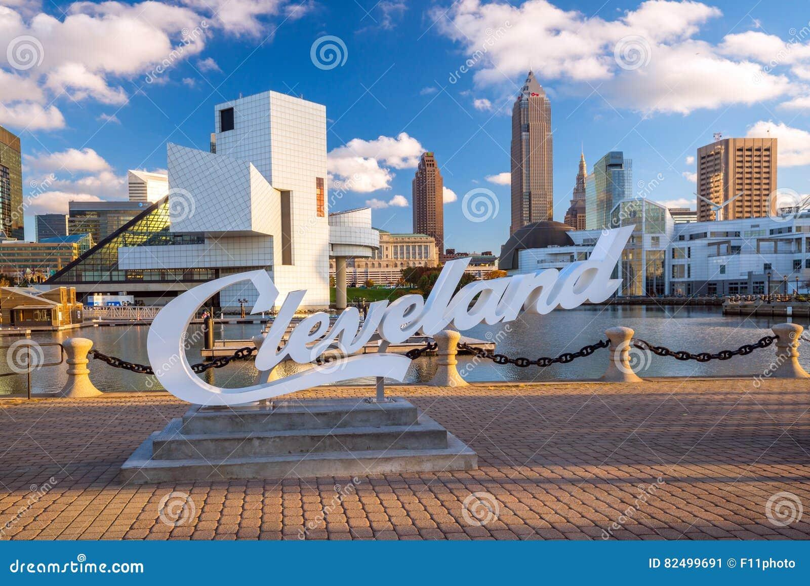 W centrum Cleveland linia horyzontu