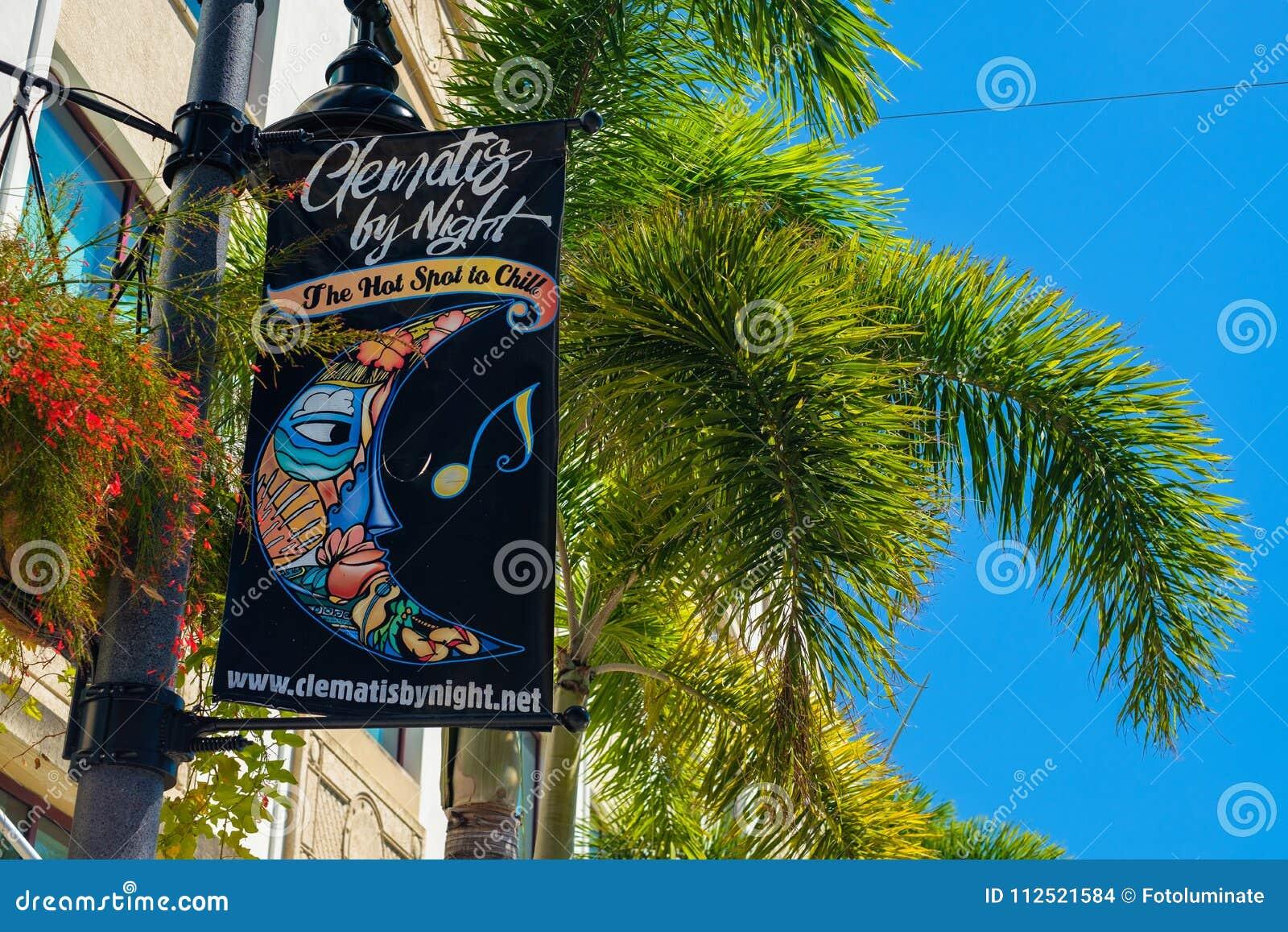 W centrum Zachodni palm beach pejzaż miejski