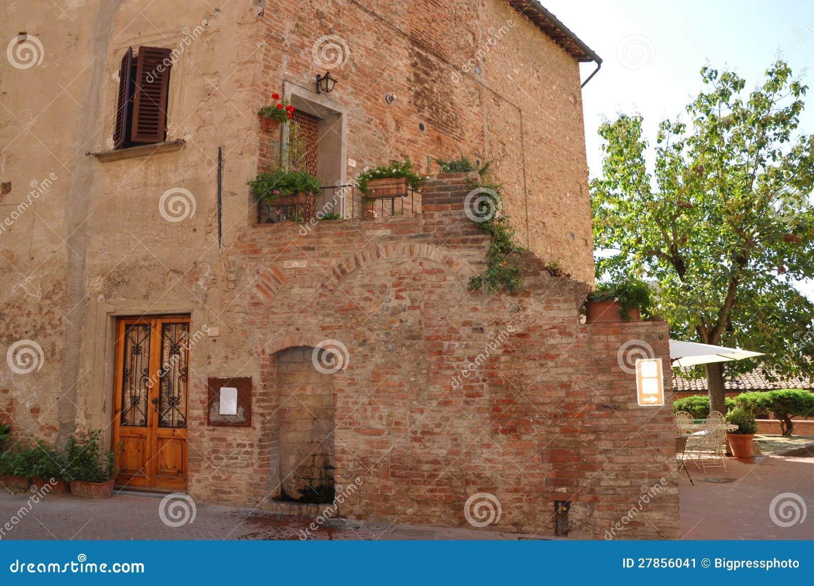 W Chianti wiosce Tuscany willa