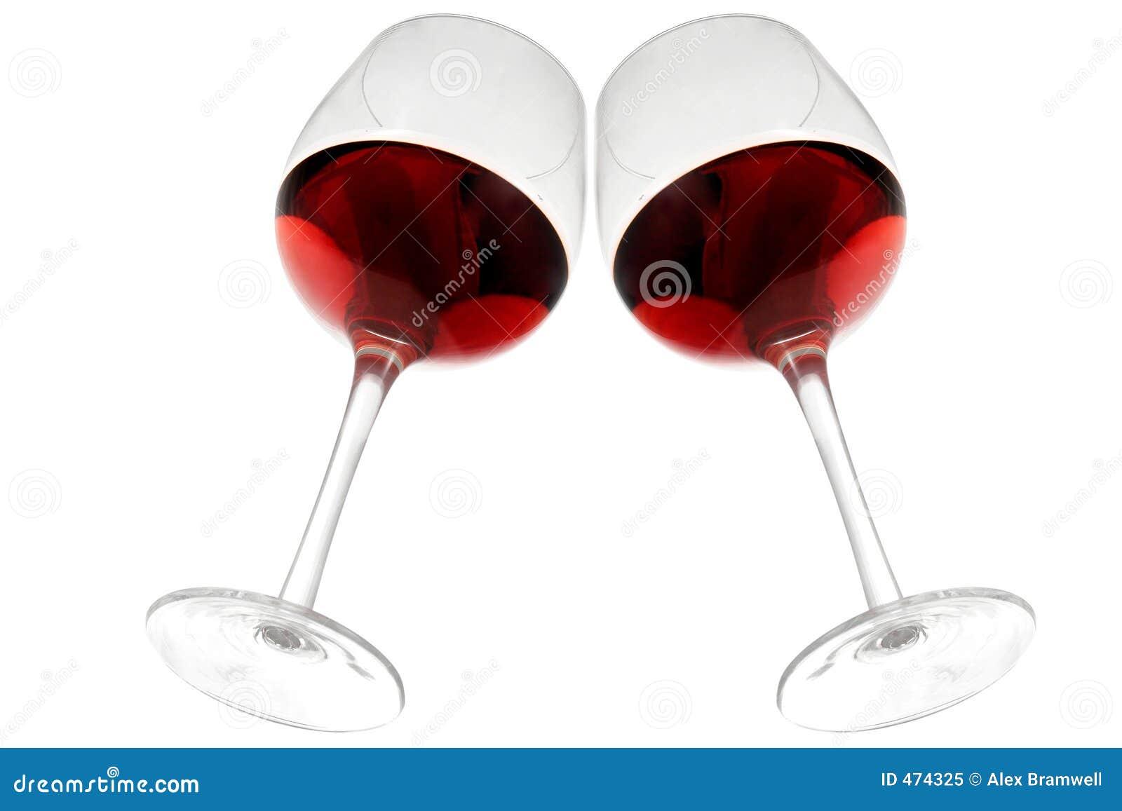 W czerwonym winem