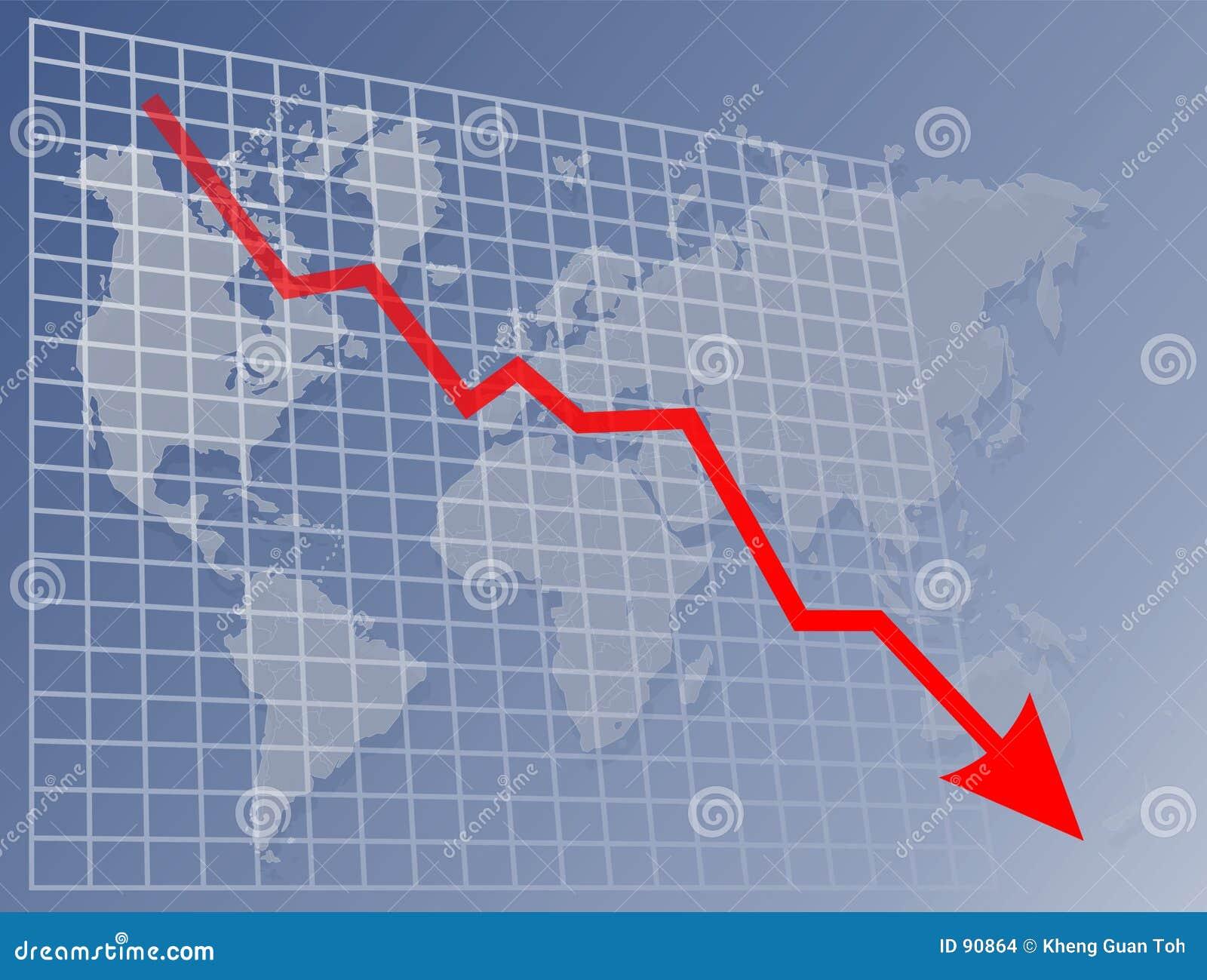 W dół mapy świata