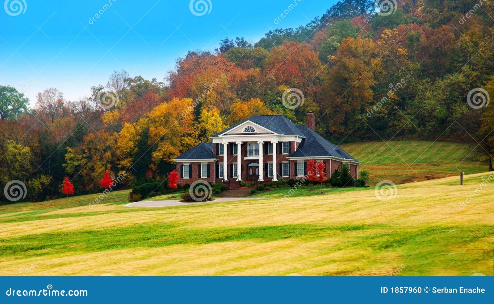 W domu jesienią luksus