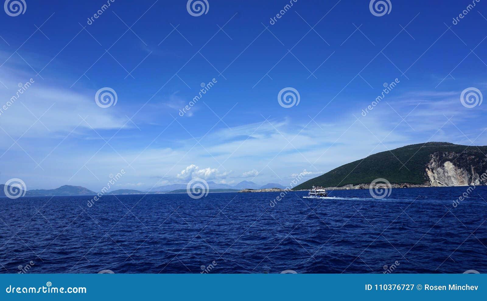 W drodze światowa sławna plaża Porto Katsiki, Lefkada wyspa, Grecja