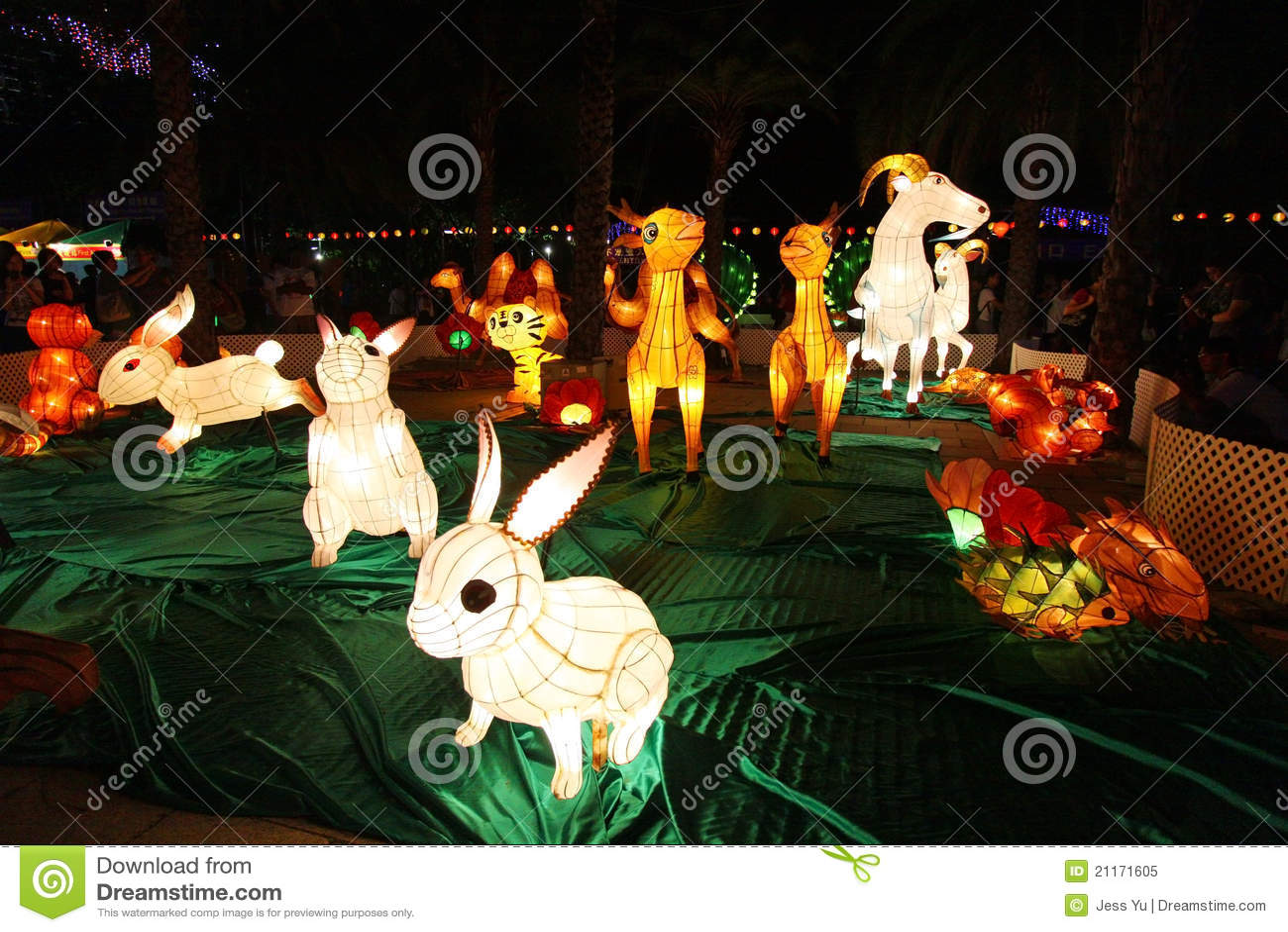 W Hong Kong Latarniowy jesień Karnawał