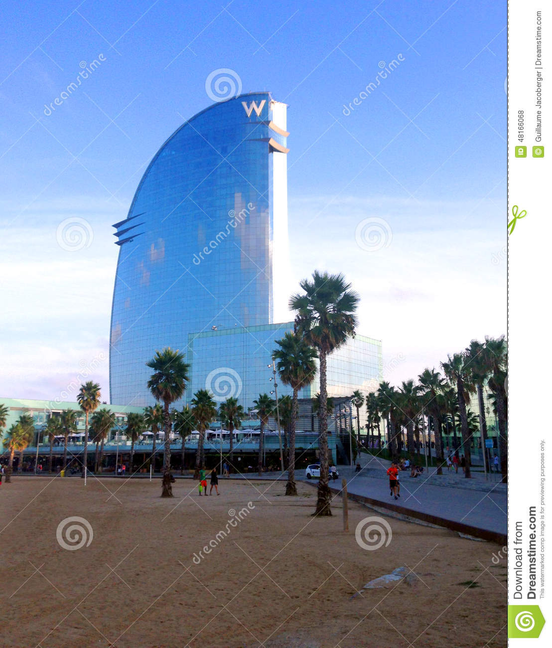 W hotel barcelona editorial stock photo image 48166068 for Design hotel w barcelona