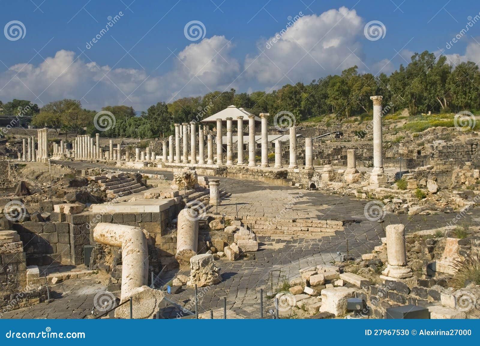 W Izrael antyczne Romańskie ekskawacje
