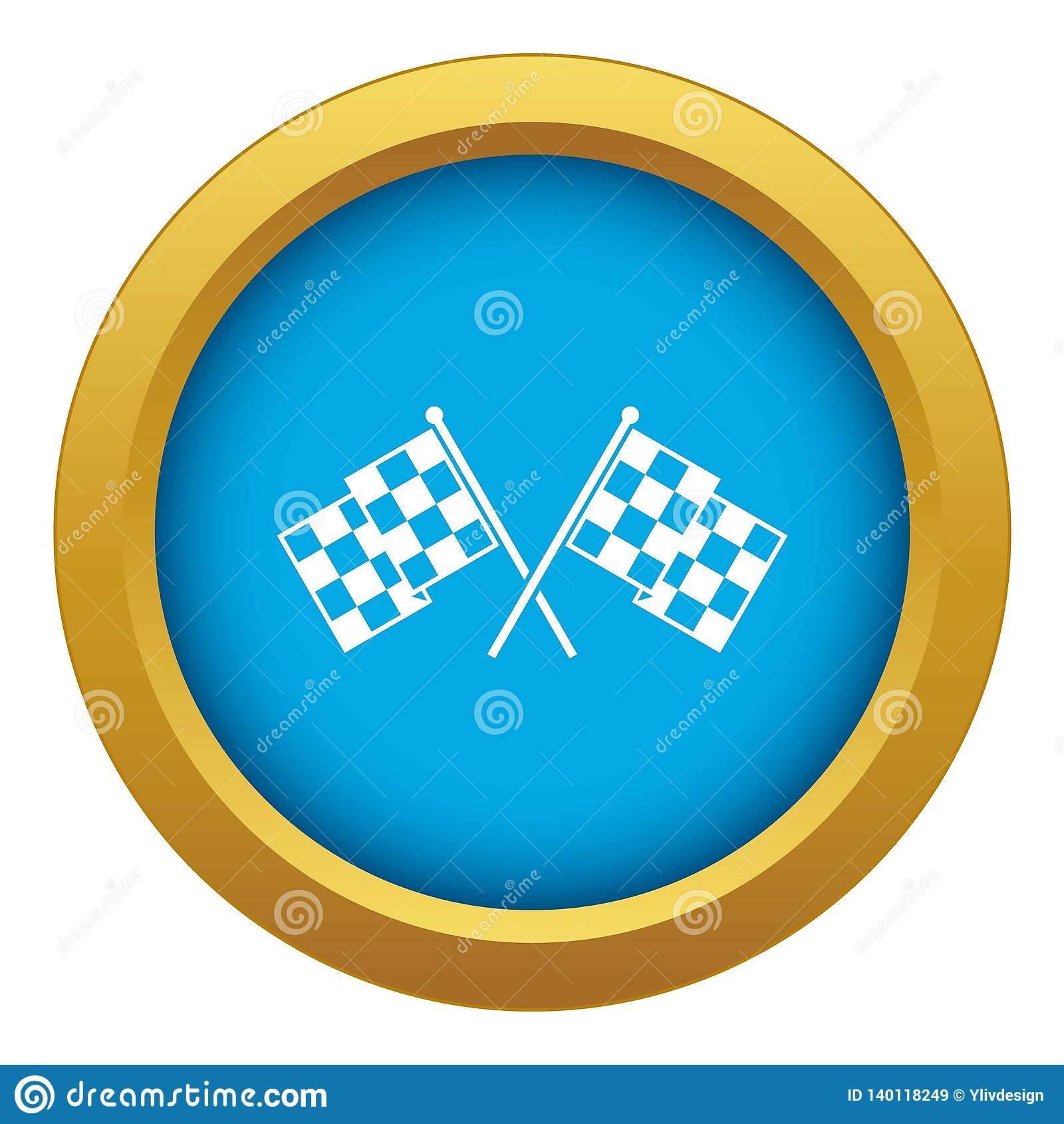W kratkę ściga się flagi ikony błękitny wektor odizolowywający