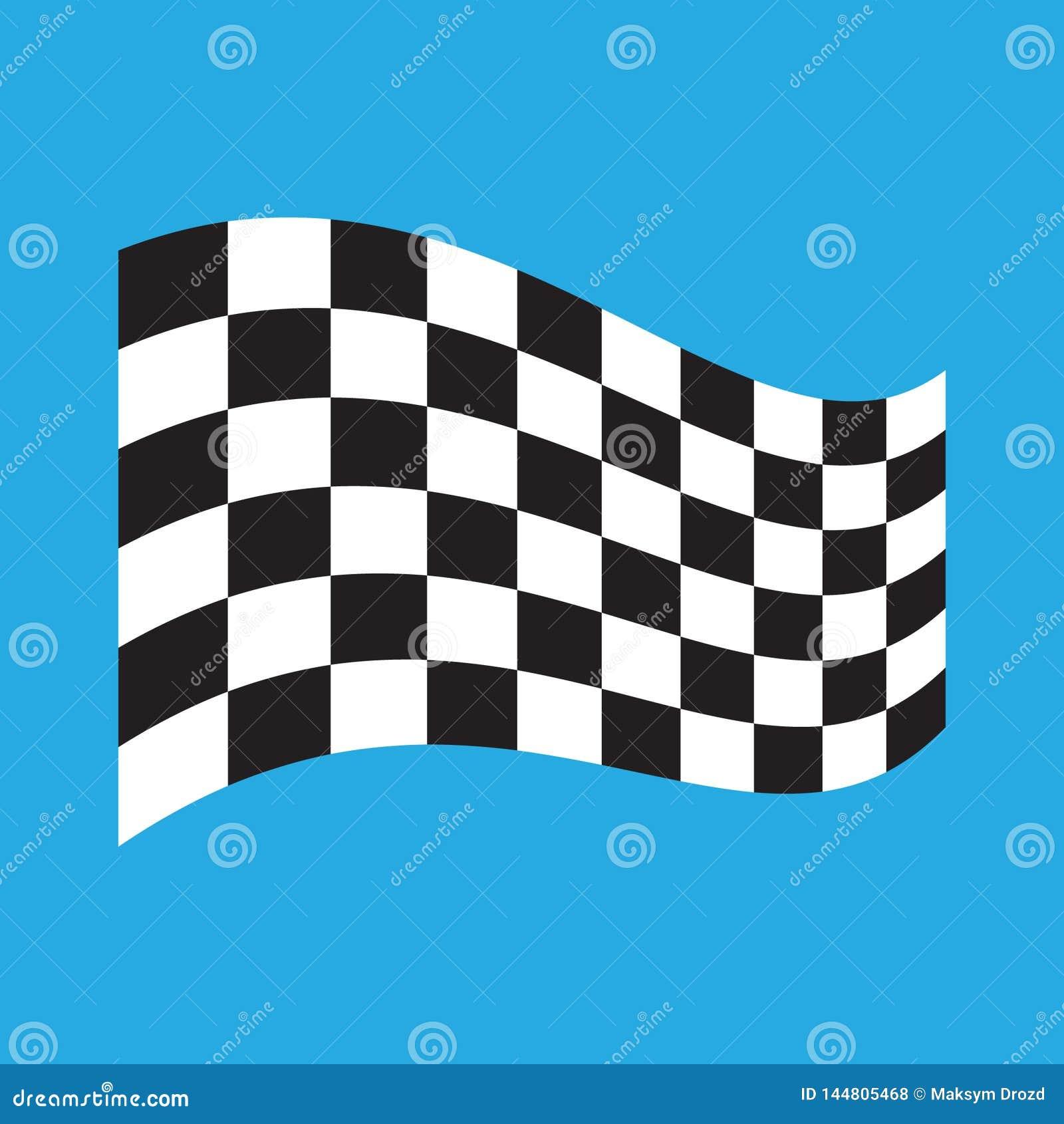 W kratk? Bie?na flaga odizolowywaj?ca na b??kicie