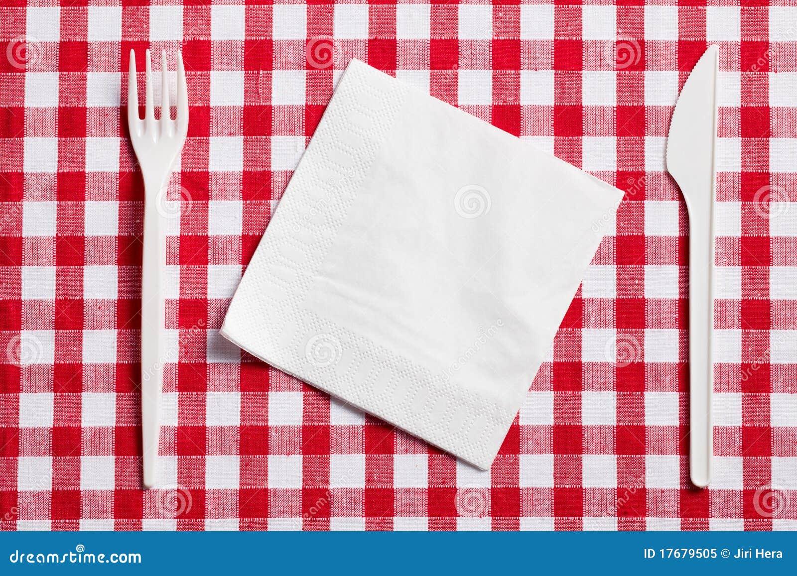 W kratkę cutlery klingerytu tablecloth